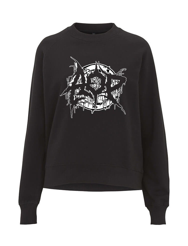 AOP – Deathmetal – Sweatshirt-Girlie (schwarz)