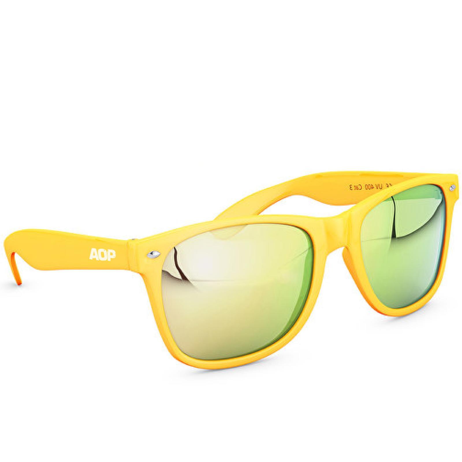 AOP – Sonnenbrille AOP Logo – gelb