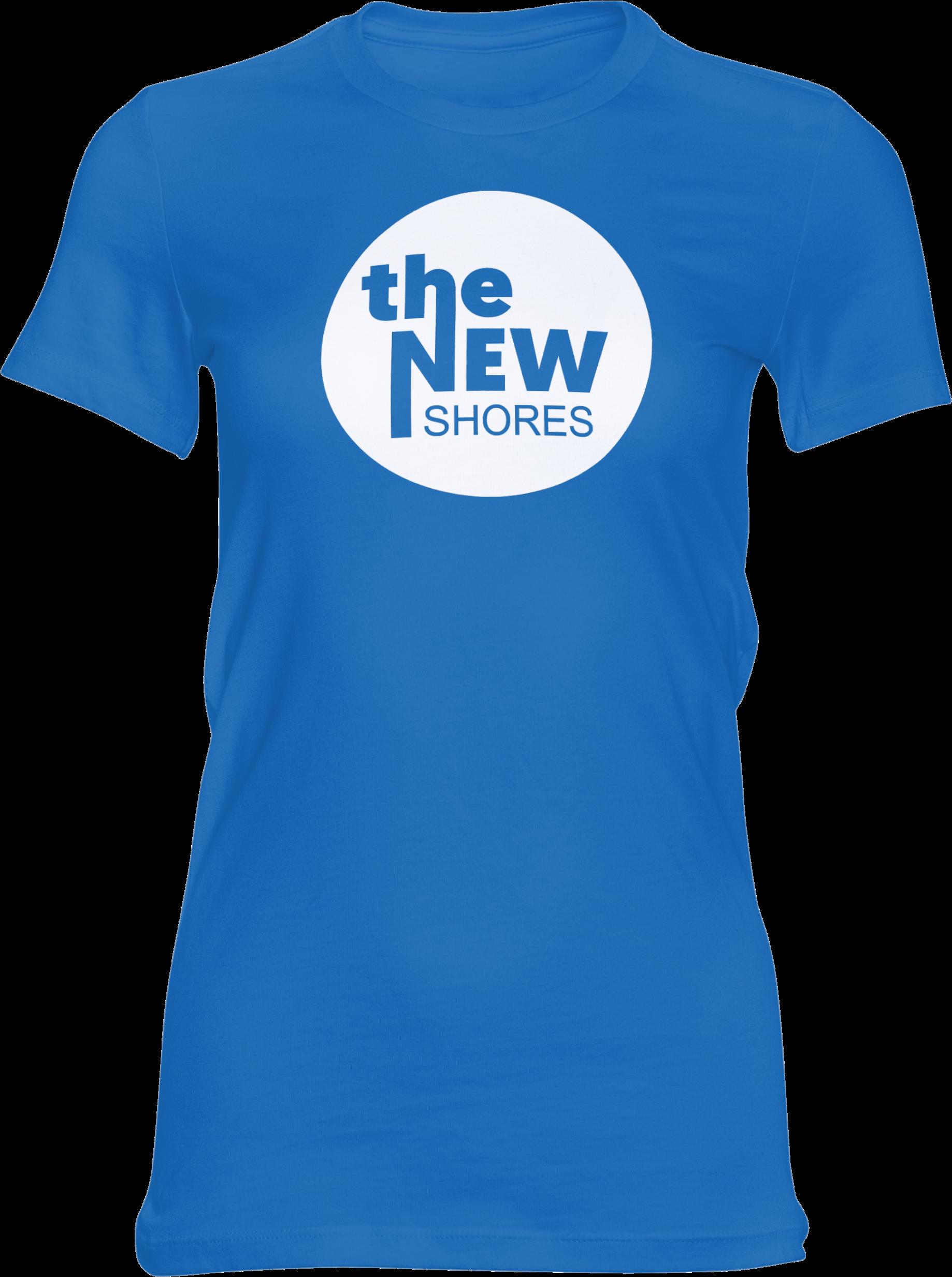 THE NEW SHORES – TNS Logo – Girlie-Shirt (blau)