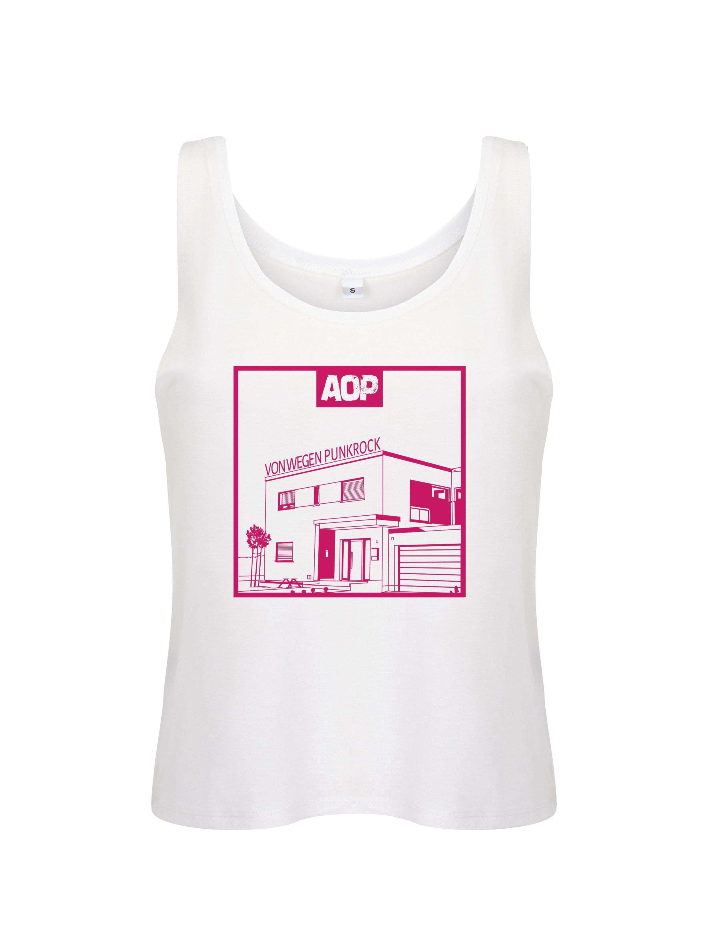 AOP – Von wegen Punkrock – Girlie-Top (weiß)