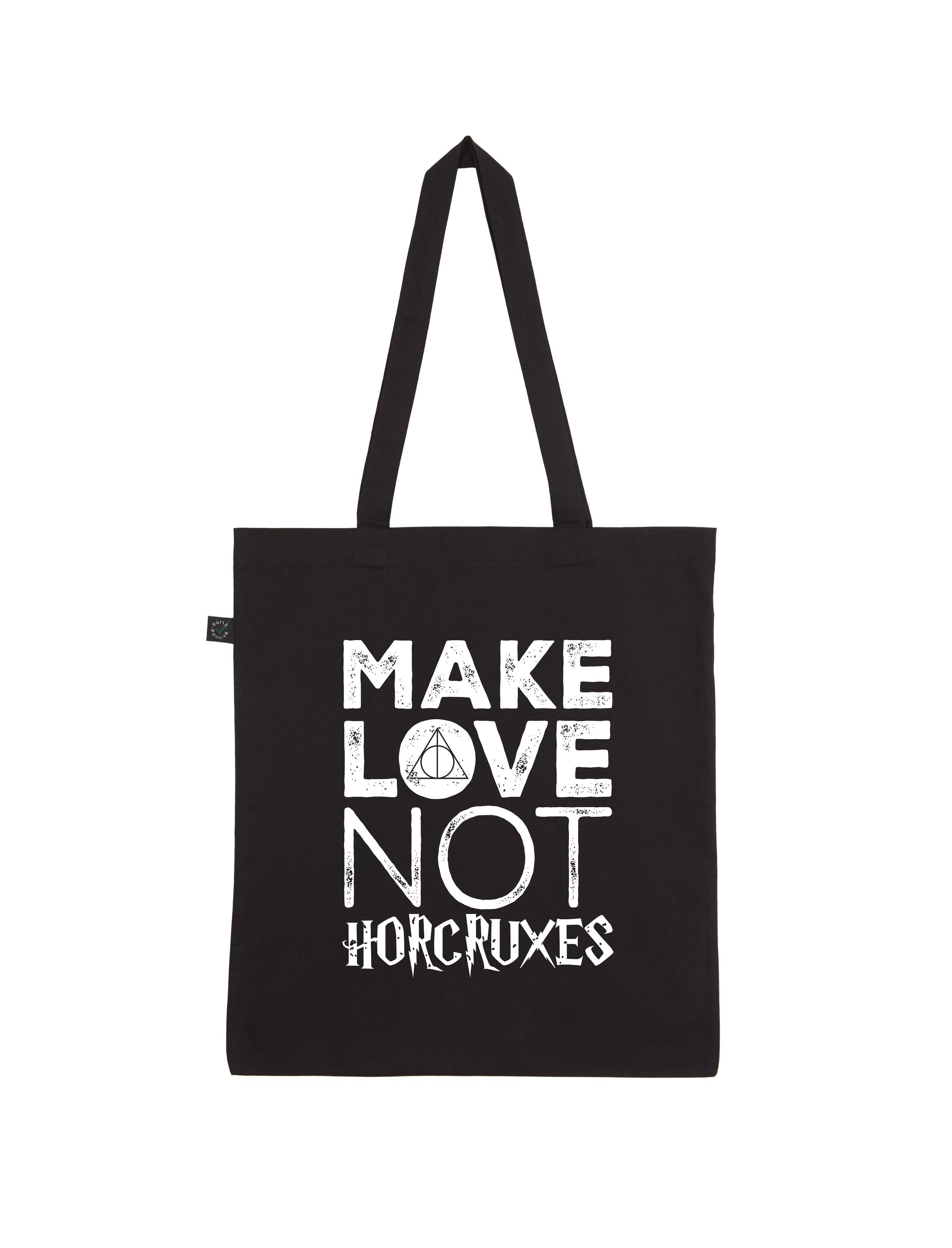 Motiv – Make Love Not Horcruxes – Shopper-Bag (schwarz)