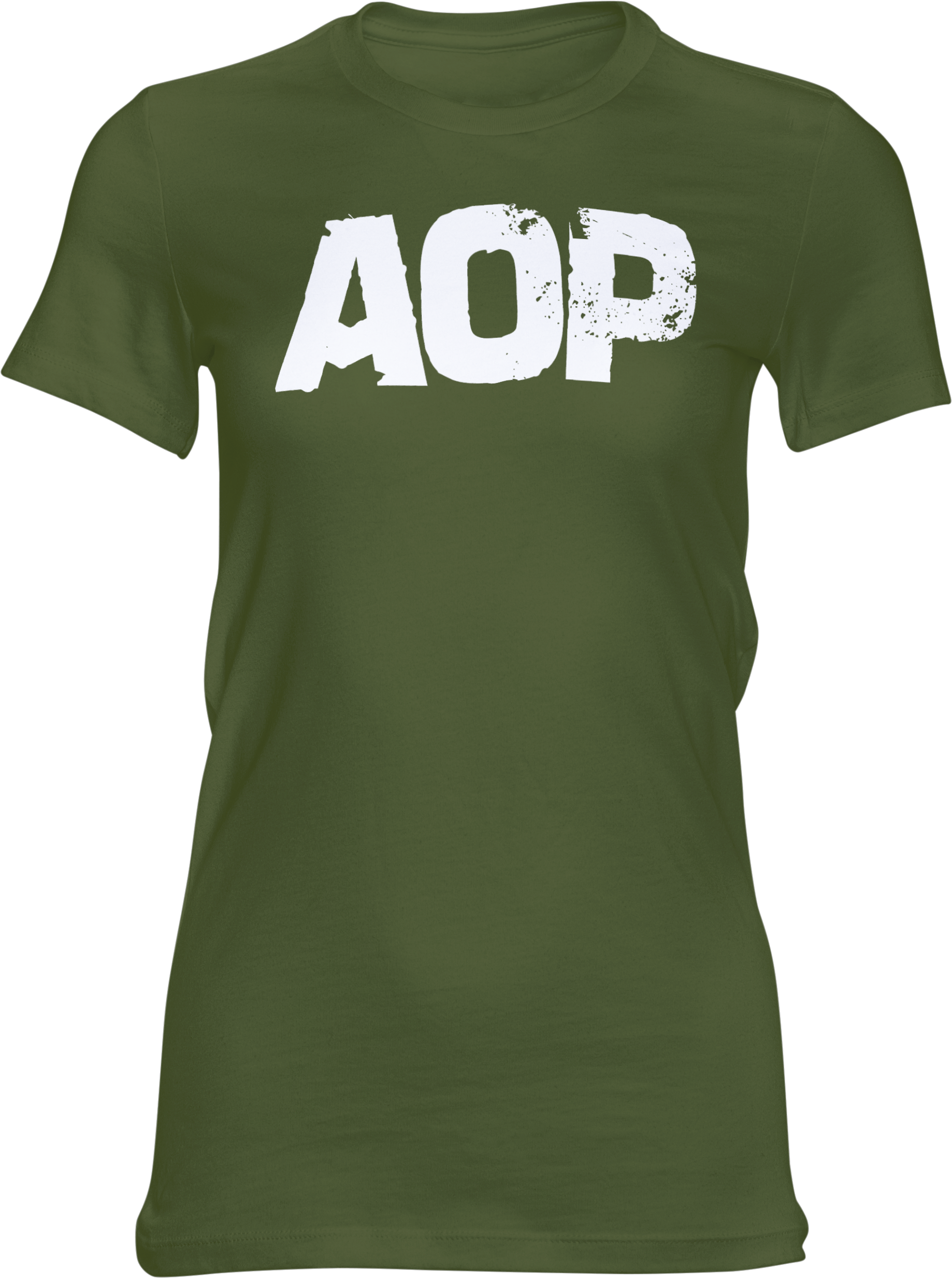 AOP – AOP Logo – Girlie-Shirt (grün)