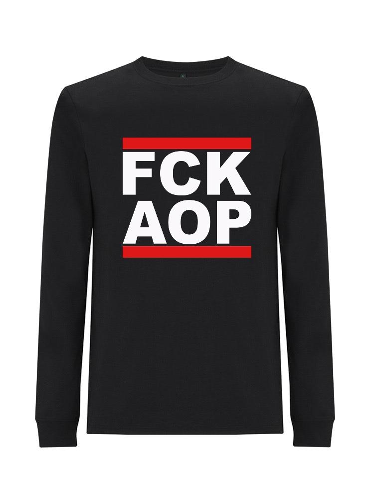 AOP – FCK AOP – Longsleeve (schwarz)