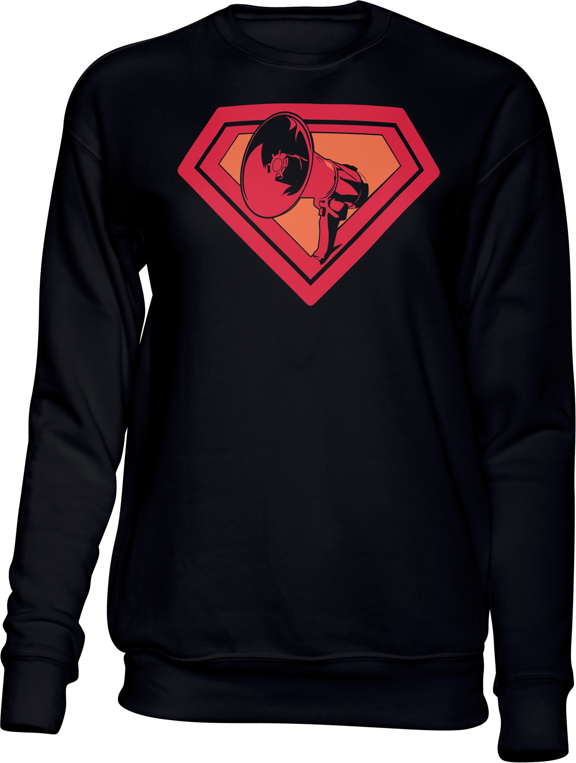 AOP – Mutter Theresa Logo – Sweatshirt (schwarz)