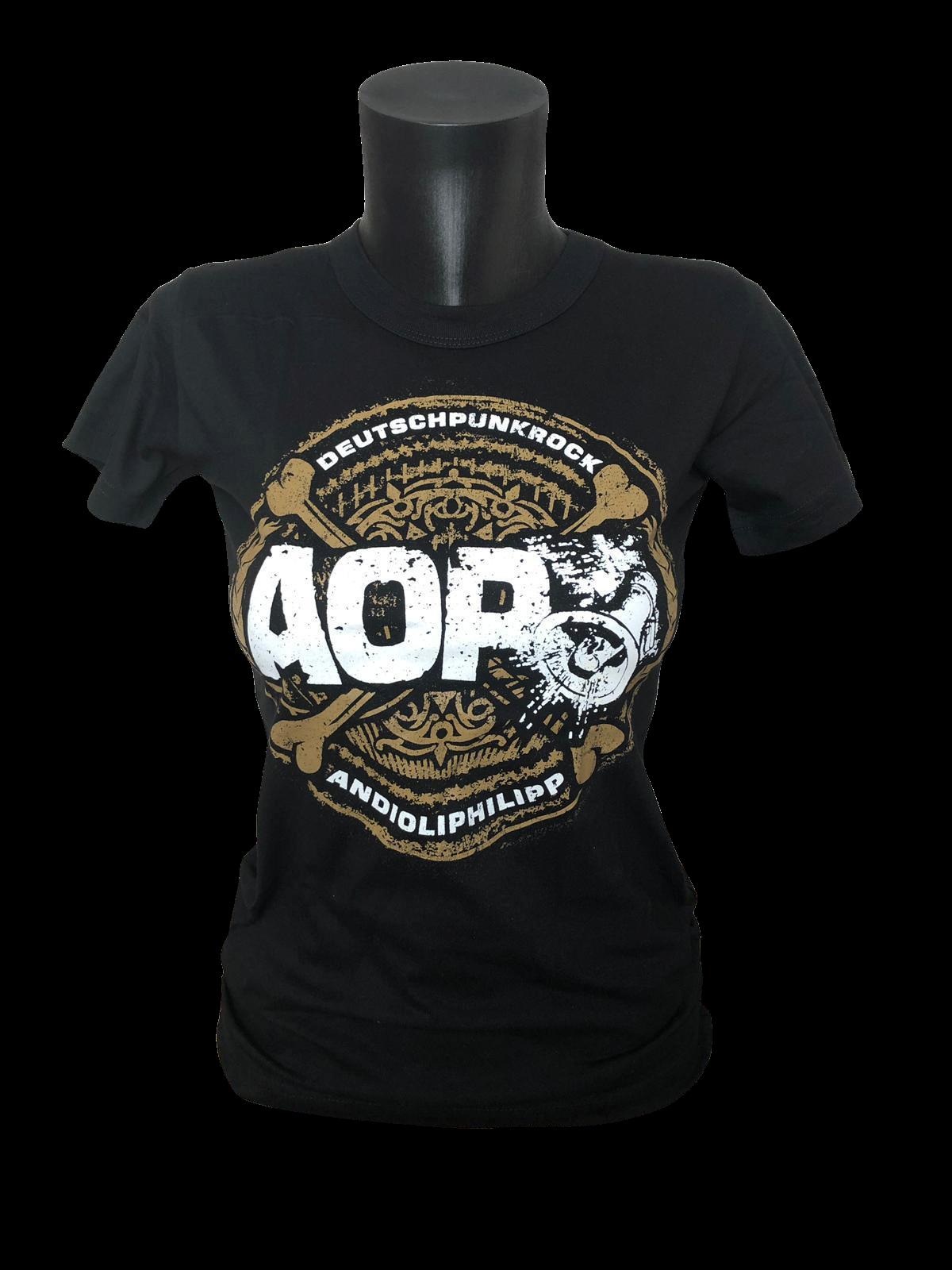 AOP – Bones Crossed – Girlie-Shirt