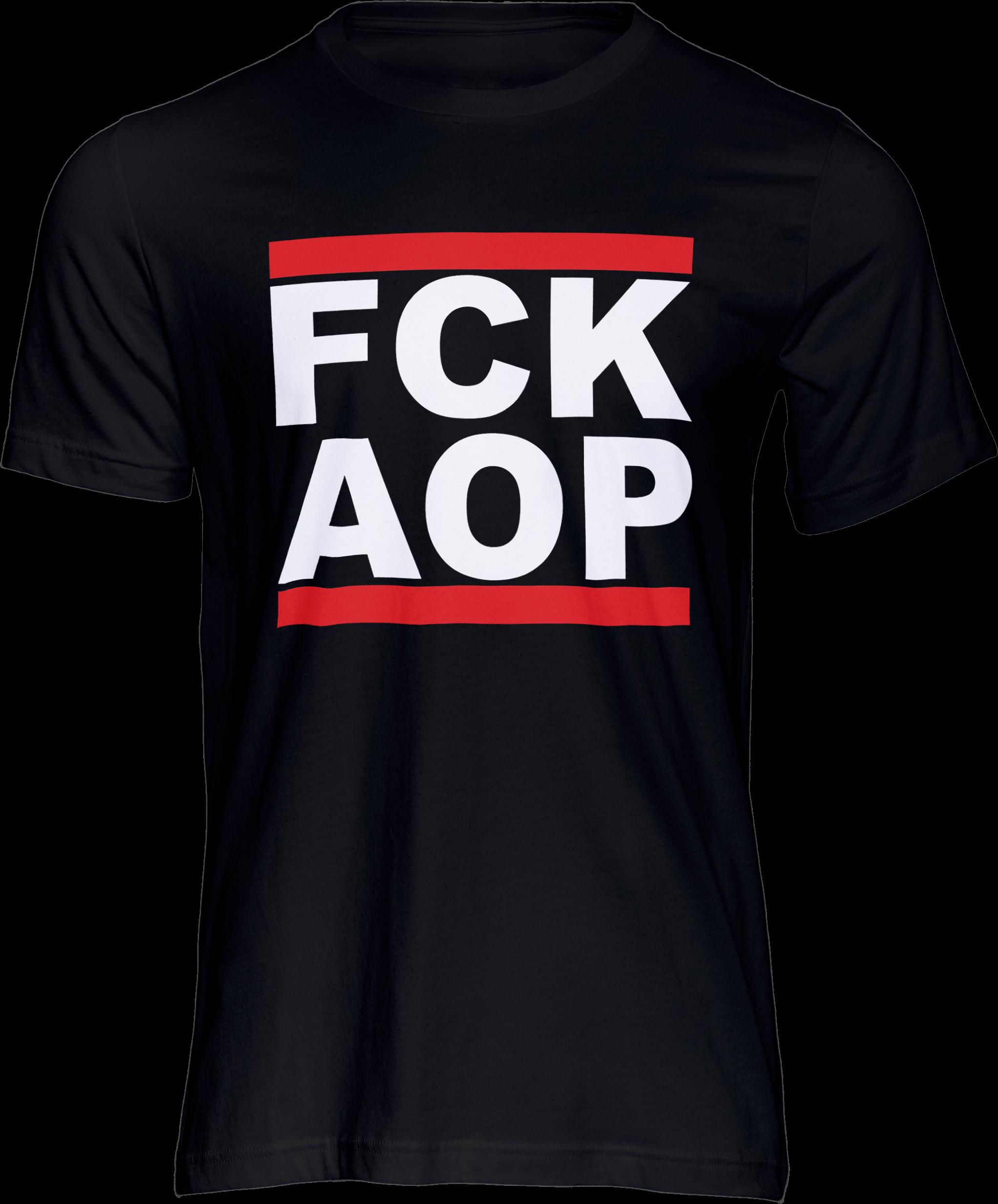 AOP – FCK AOP – T-Shirt (schwarz)