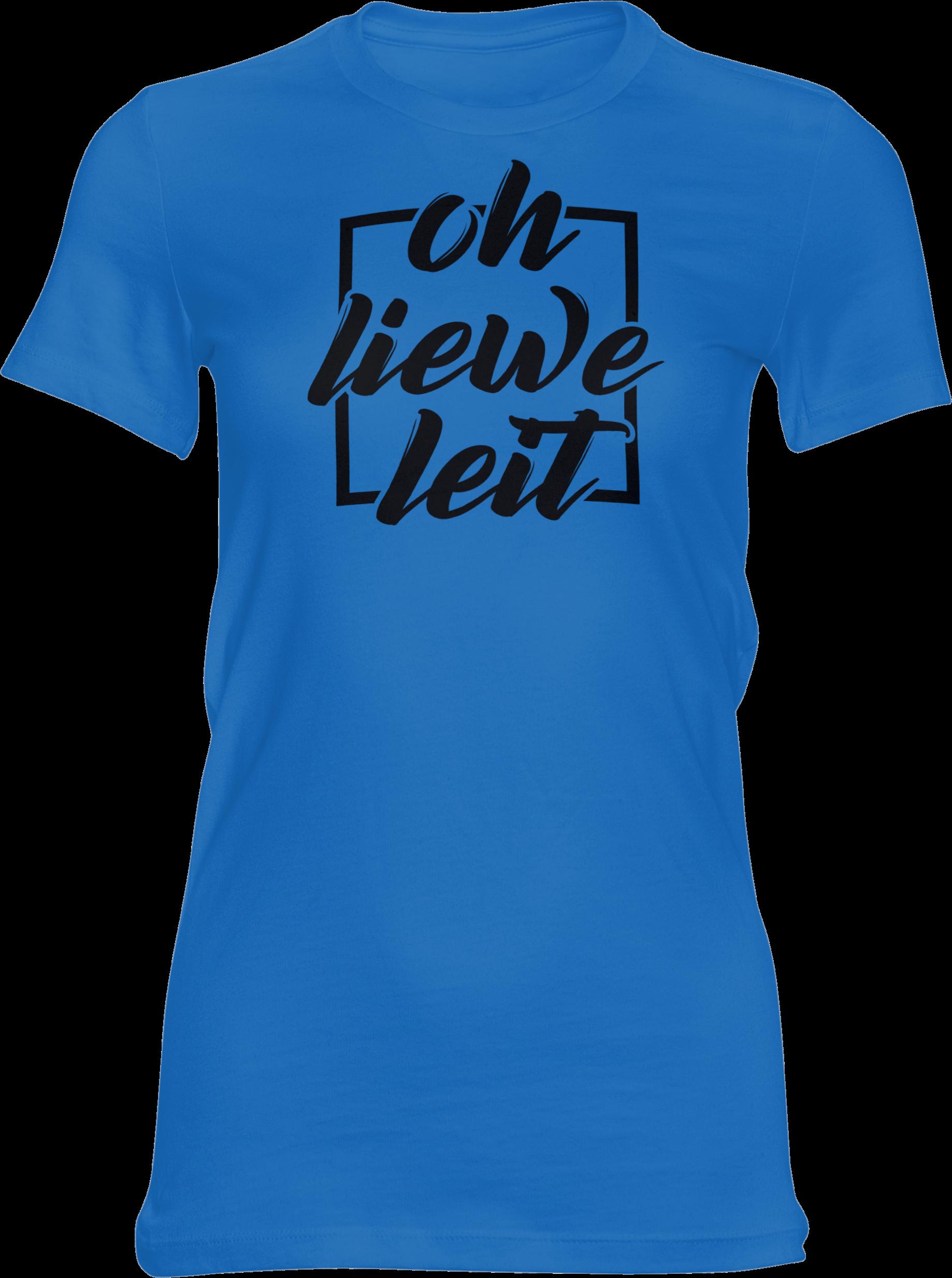 Motiv-Shirt – Oh liewe Leit – Girlie-Shirt (blau)
