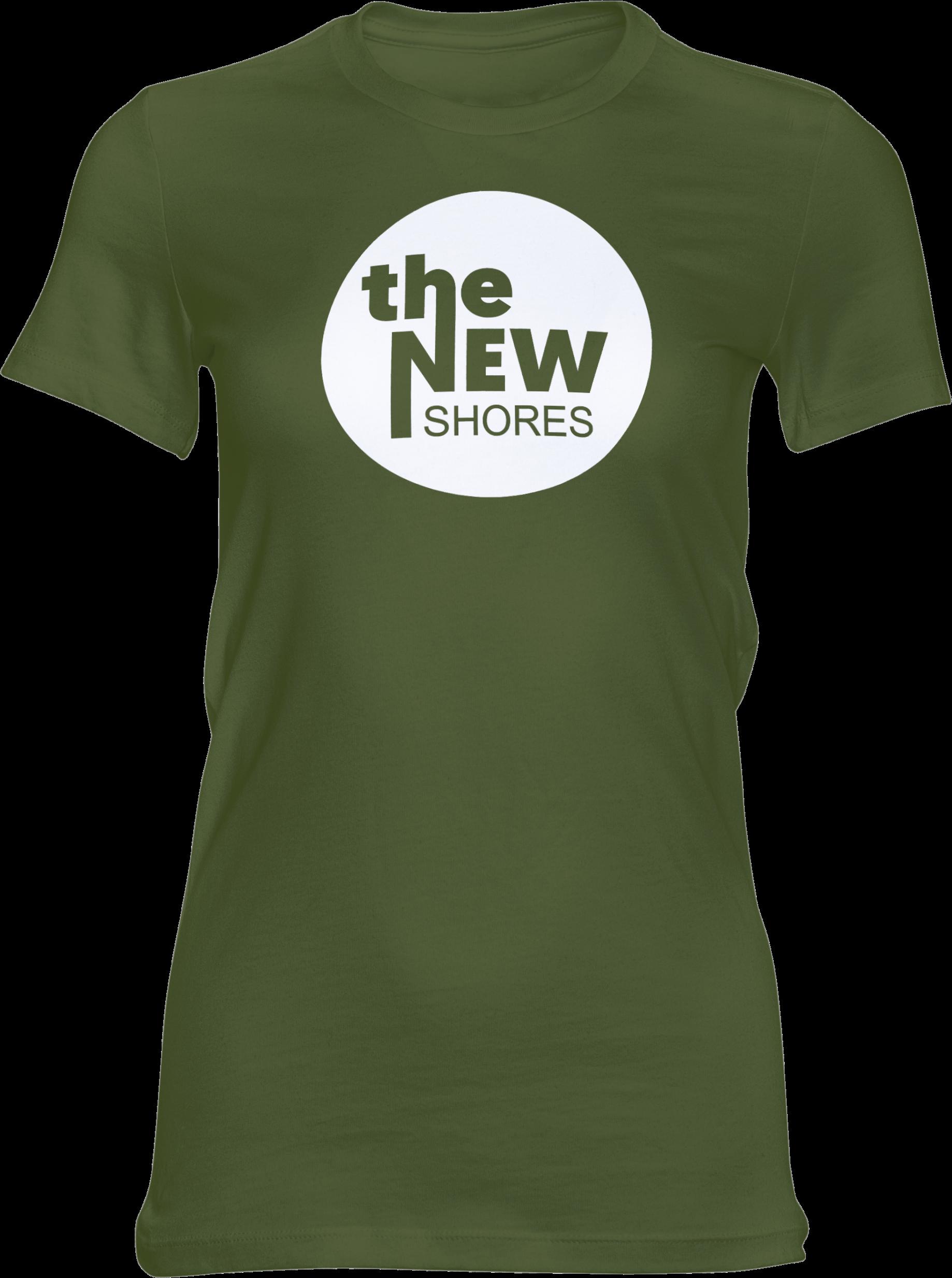 THE NEW SHORES – TNS Logo – Girlie-Shirt (grün)