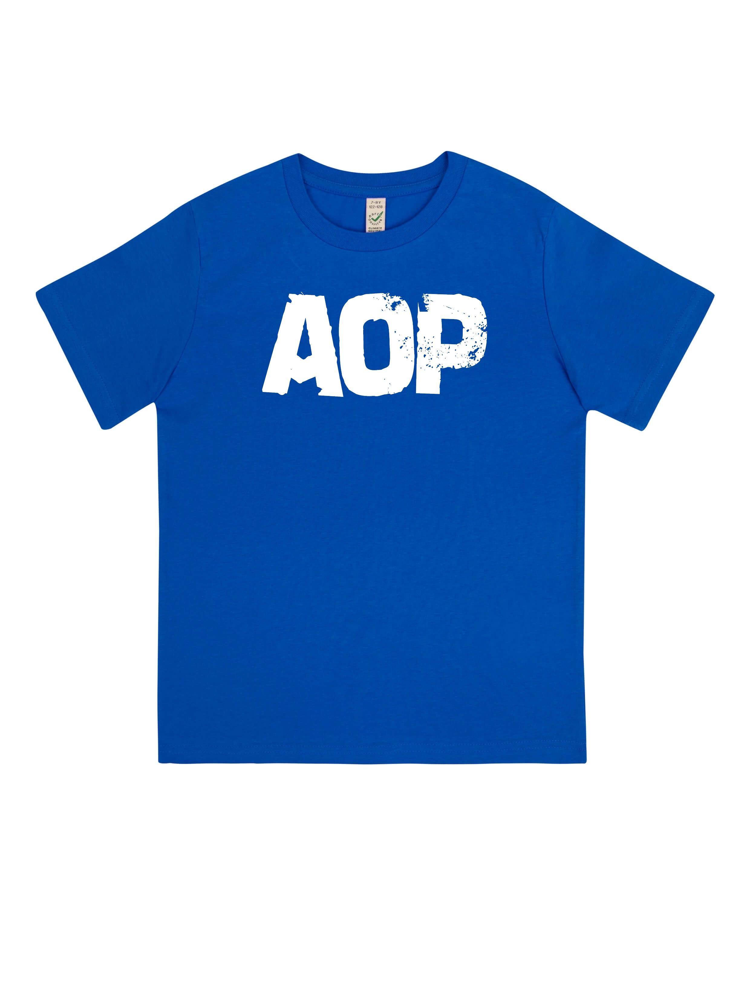 AOP – AOP Logo – Kids-Shirt (blau)