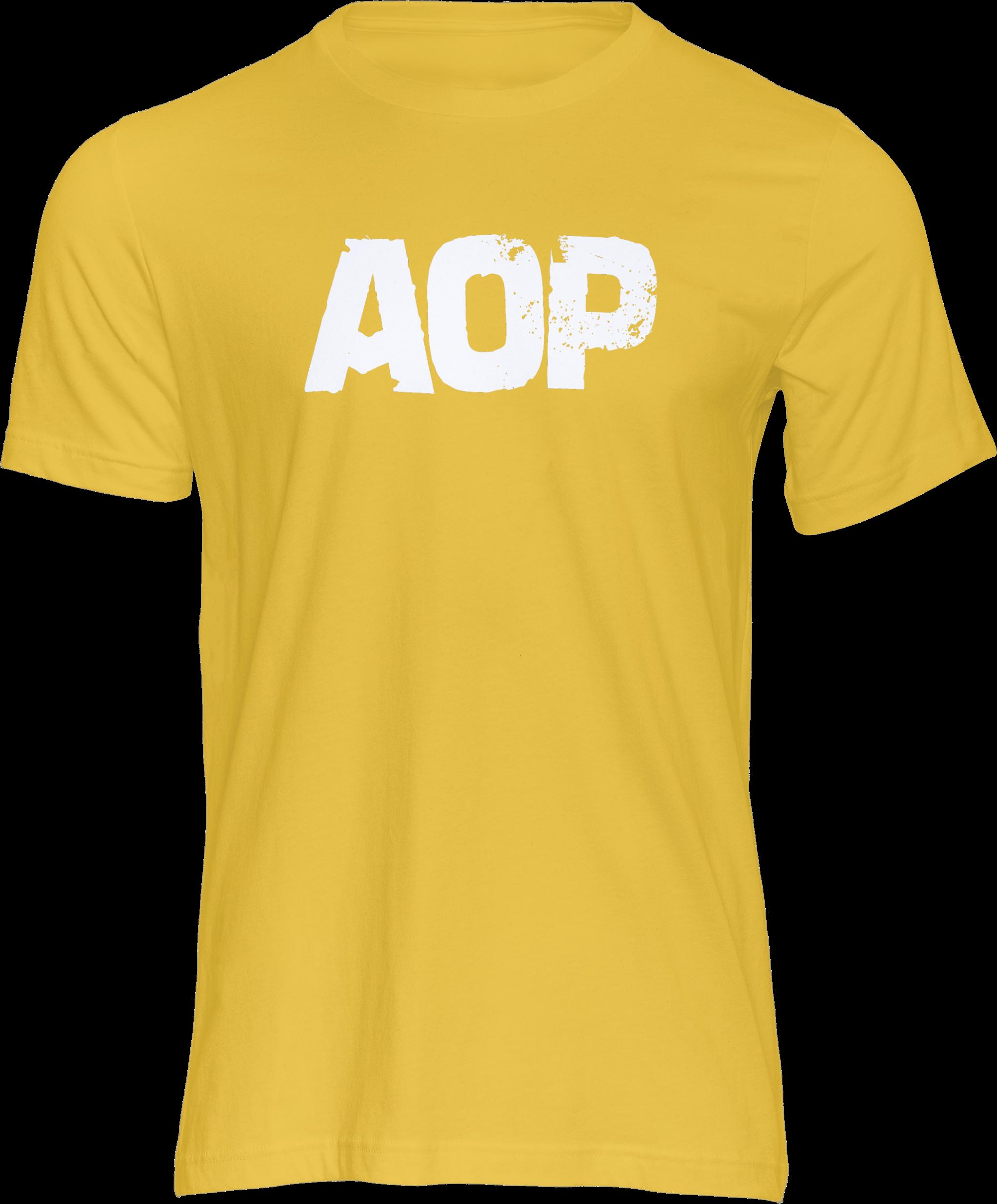 AOP – AOP Logo – T-Shirt (gelb)