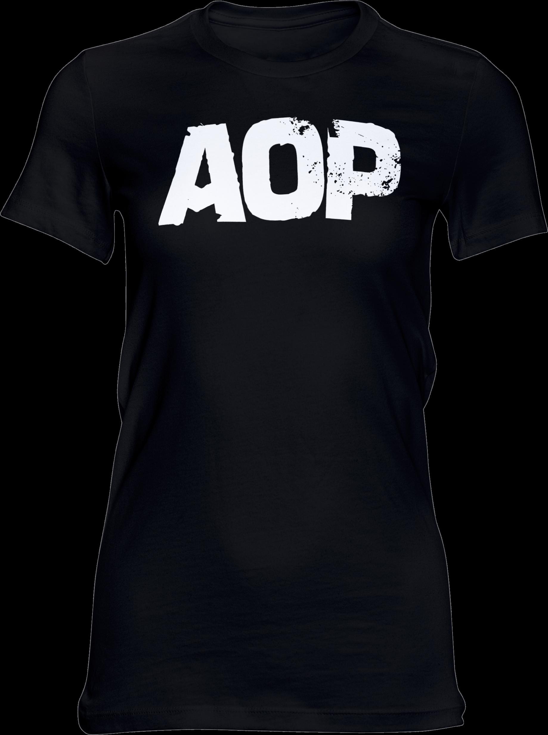 AOP – AOP Logo – Girlie-Shirt (schwarz)