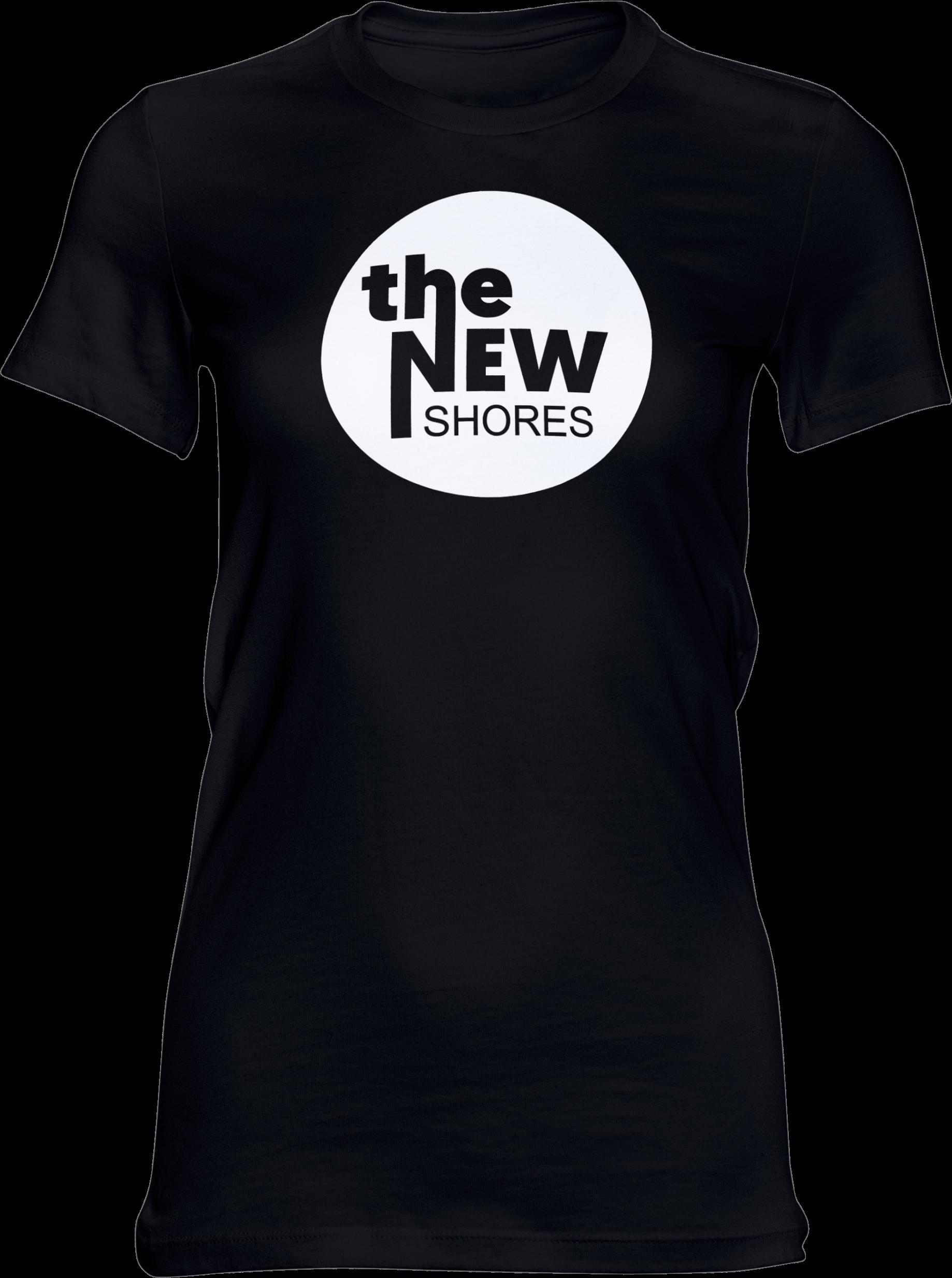 THE NEW SHORES – TNS Logo – Girlie-Shirt (schwarz)