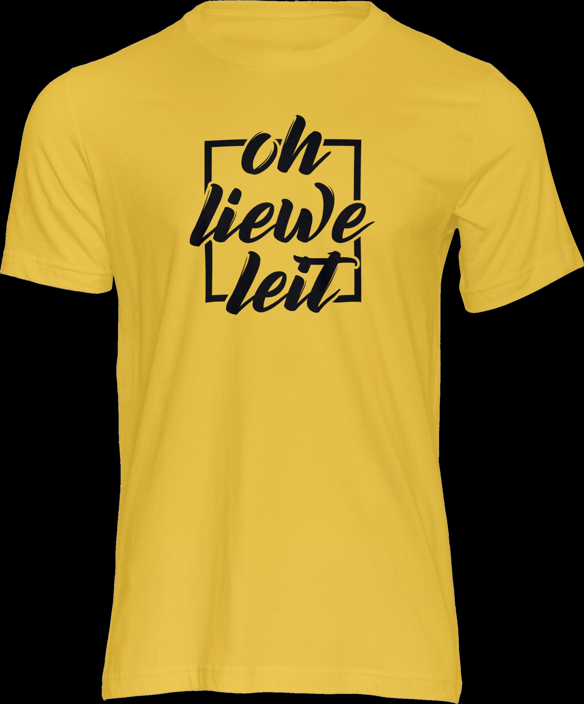 Motiv-Shirt – Oh liewe Leit – T-Shirt (gelb)
