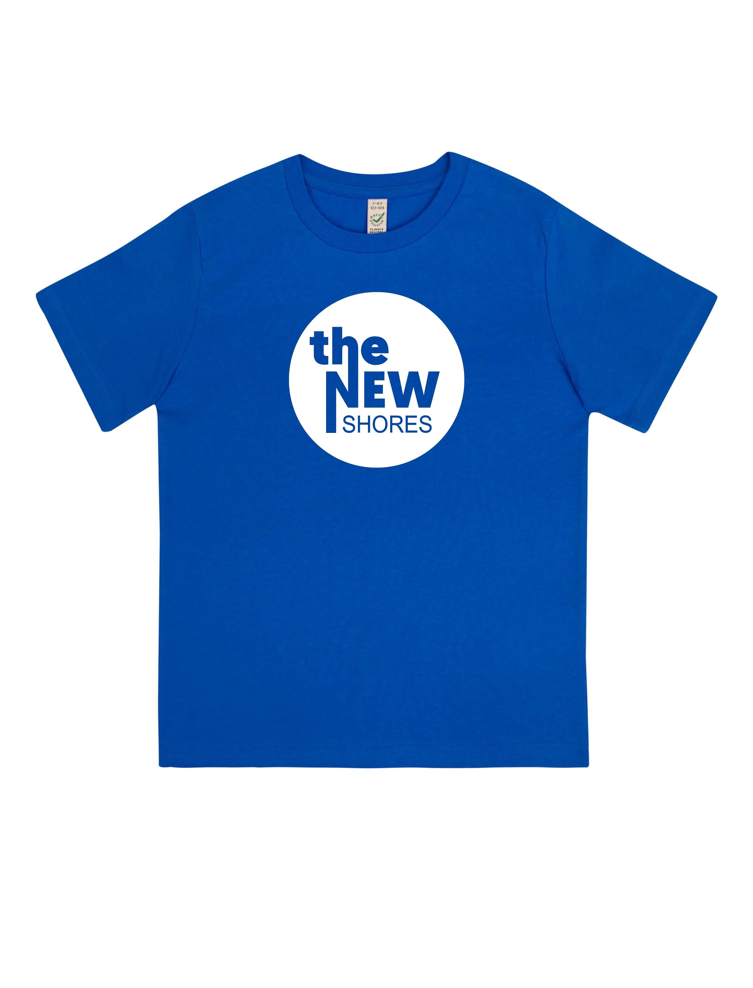 The New Shores – TNS Logo – Kids-Shirt (blau)
