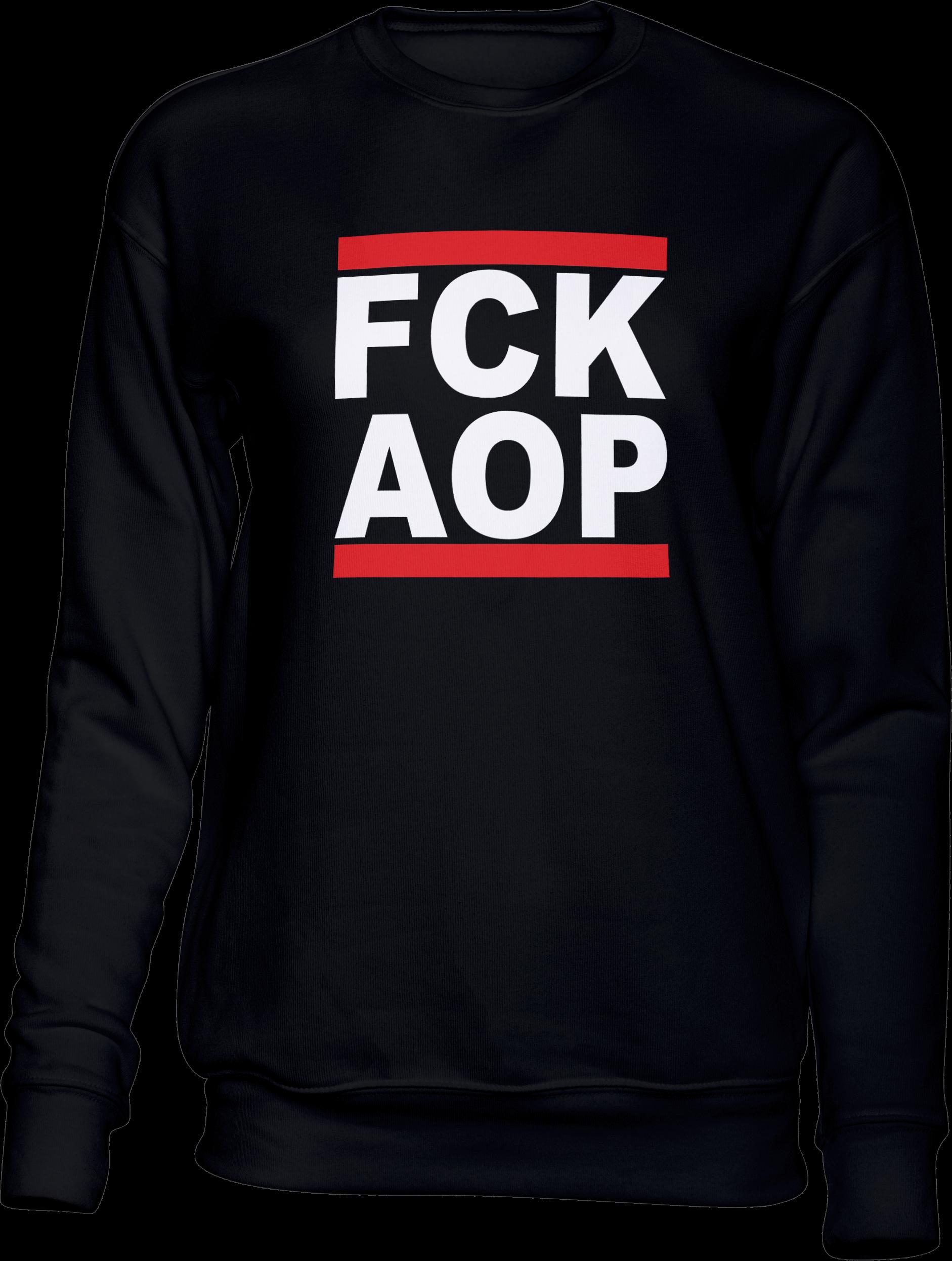 AOP – FCK AOP – Sweatshirt (schwarz)