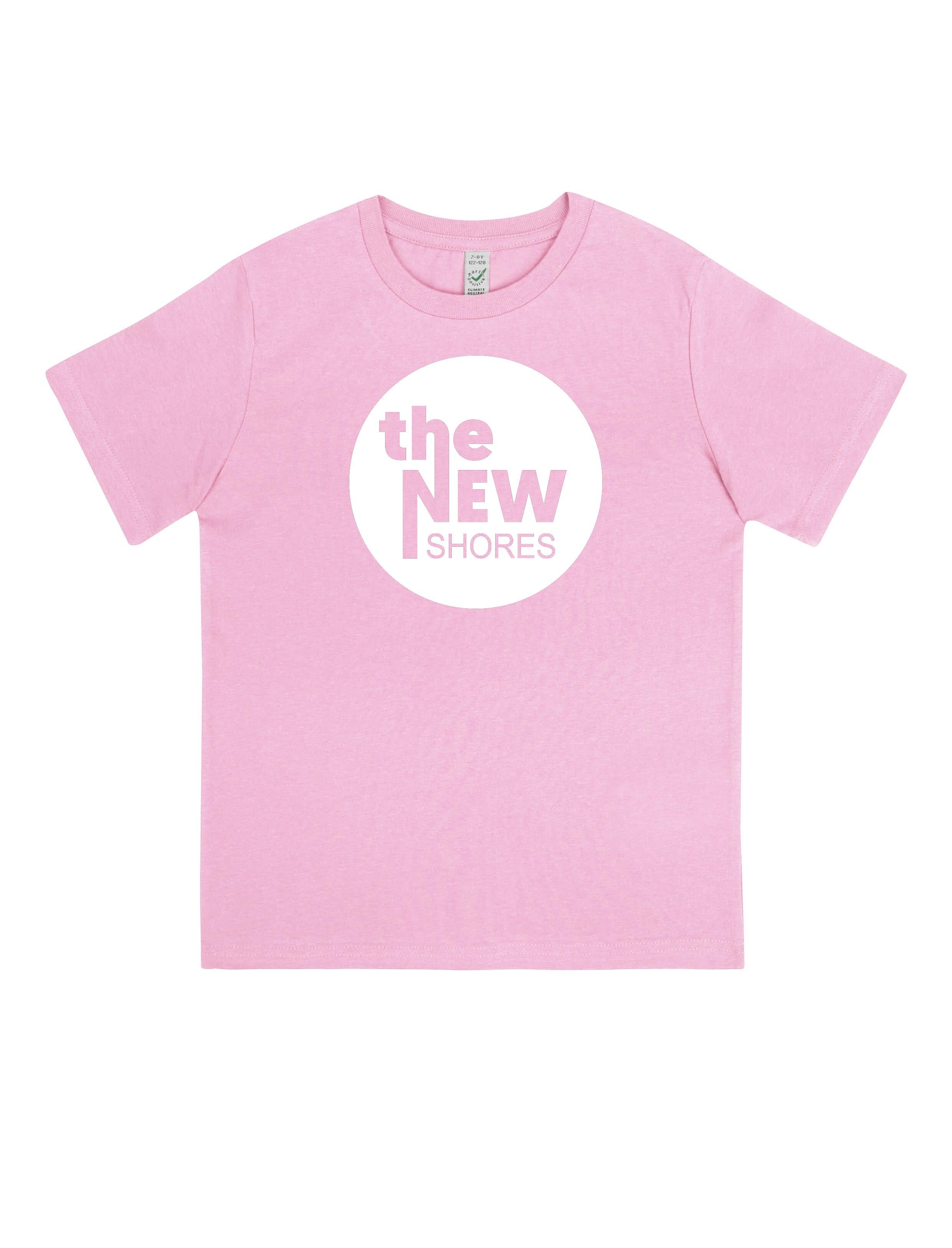The New Shores – TNS Logo – Kids-Shirt (rosa)