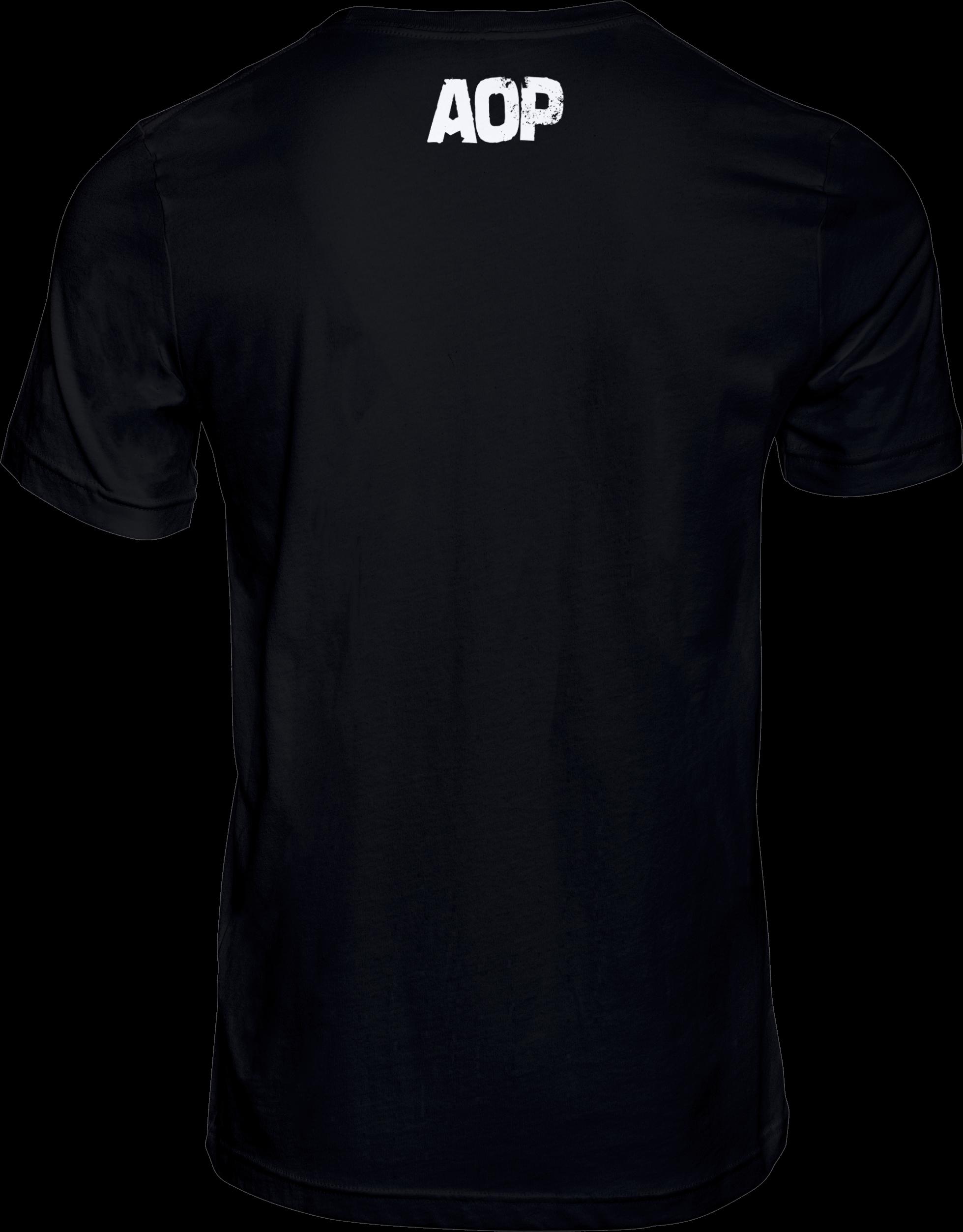 AOP – Unsere Lieder – T-Shirt (schwarz)