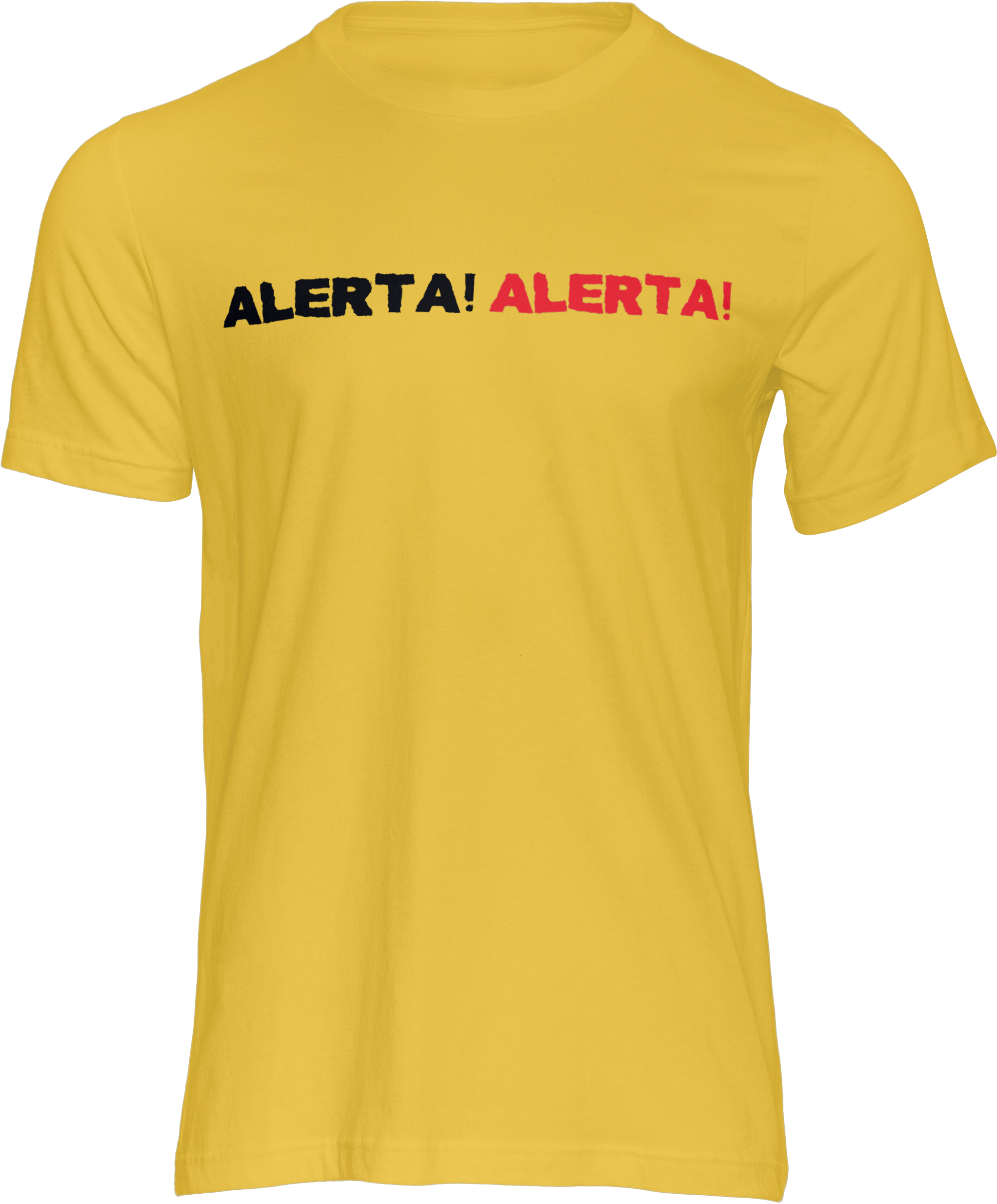 Motiv-Shirt – Alerta Alerta – T-Shirt (gelb)