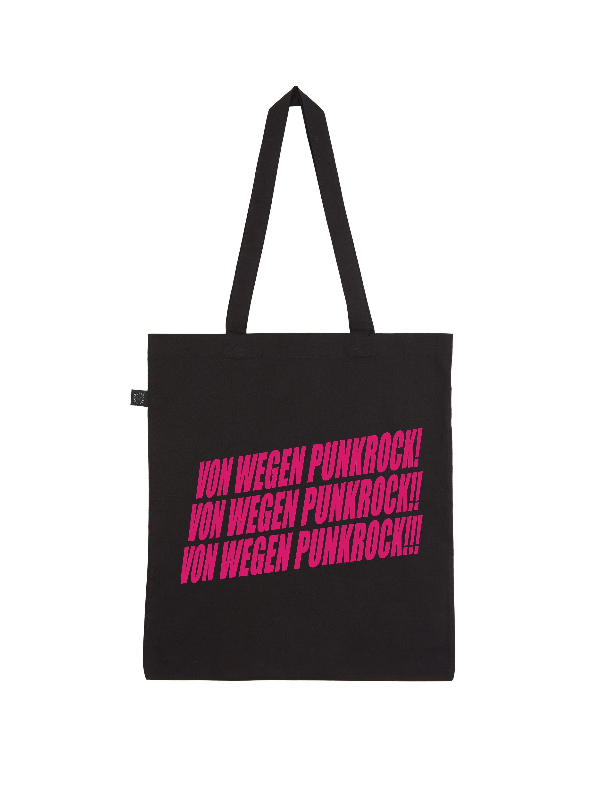 AOP – Von wegen Punkrock Schriftzug – Shopper-Bag (schwarz)