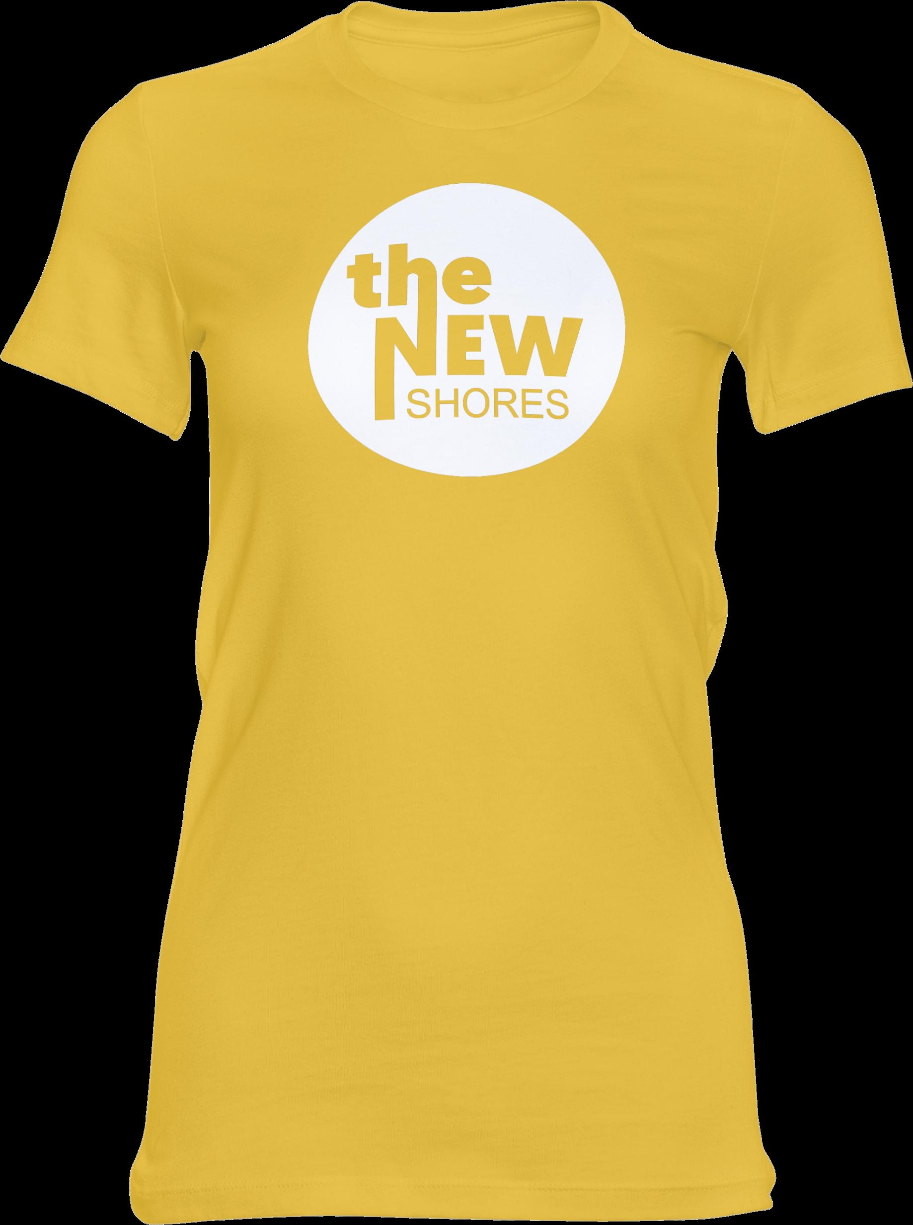The New Shores – TNS Logo – Girlie-Shirt (gelb)