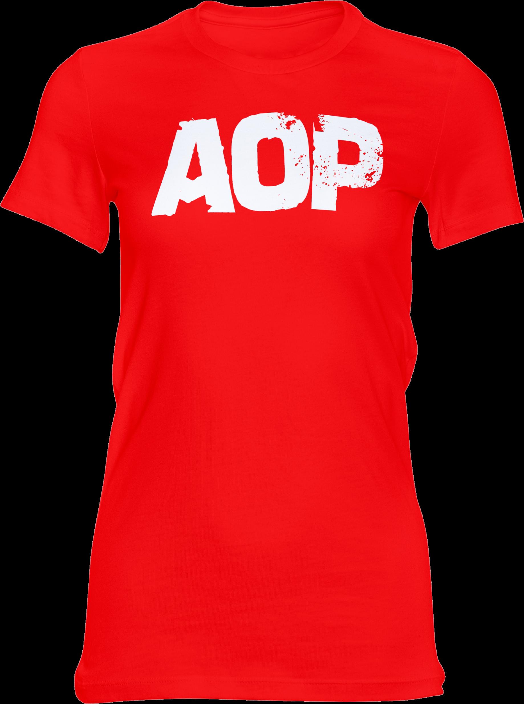 AOP – AOP Logo – Girlie-Shirt (rot)