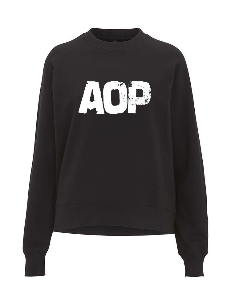 AOP – AOP Logo – Sweatshirt-Girlie (schwarz)