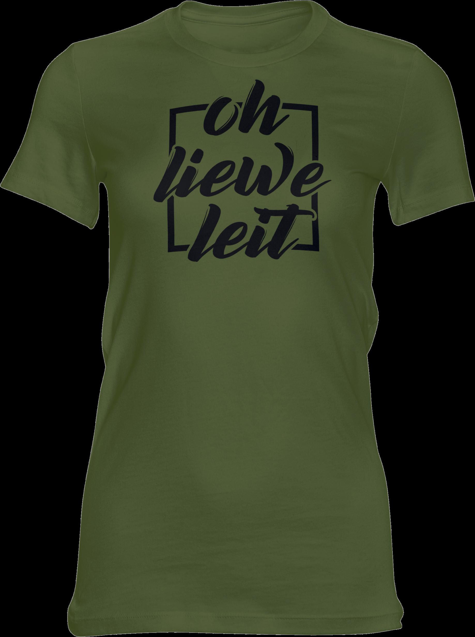 Motiv-Shirt – Oh liewe Leit – Girlie-Shirt (grün)