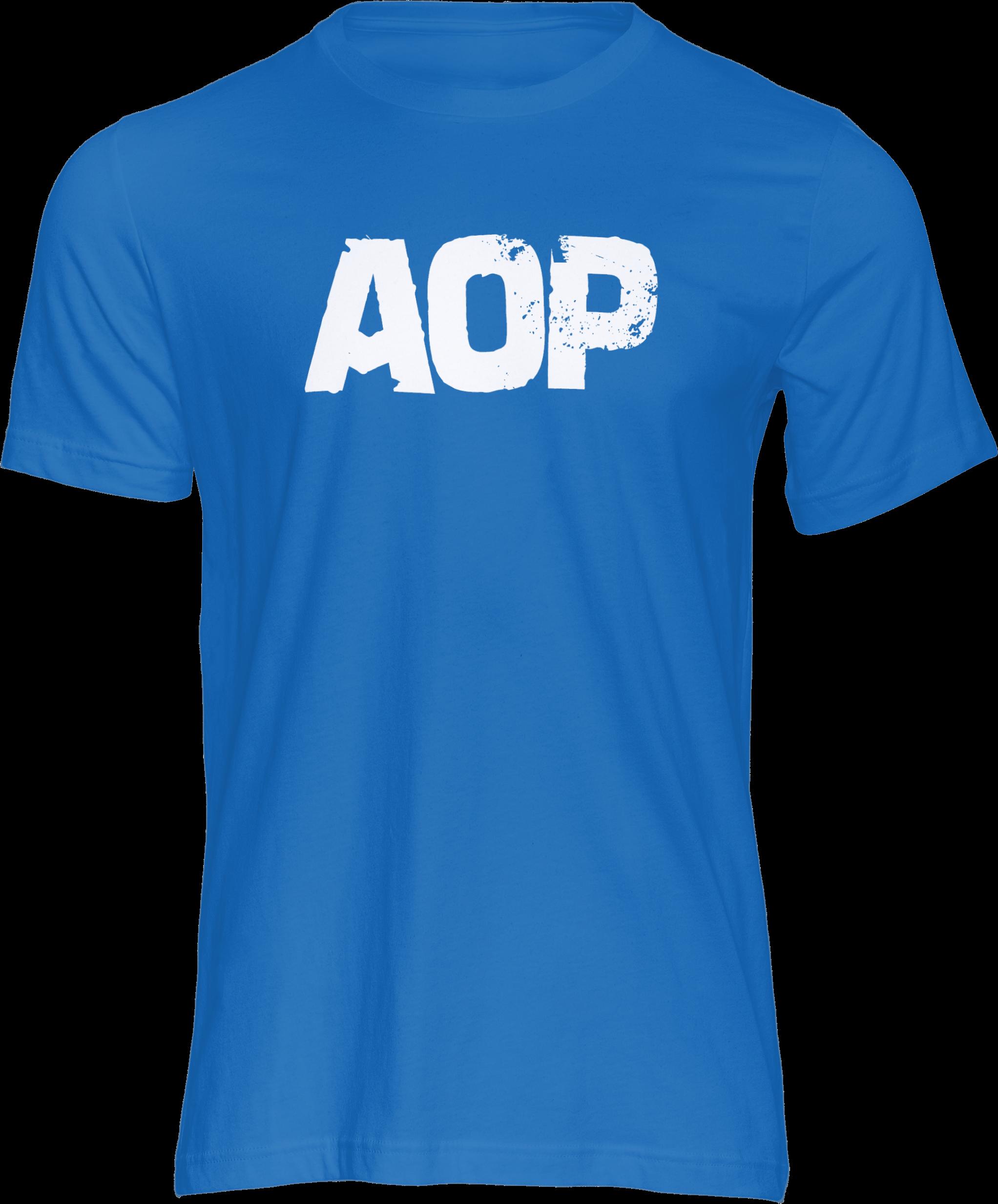 AOP – AOP Logo – T-Shirt (blau)