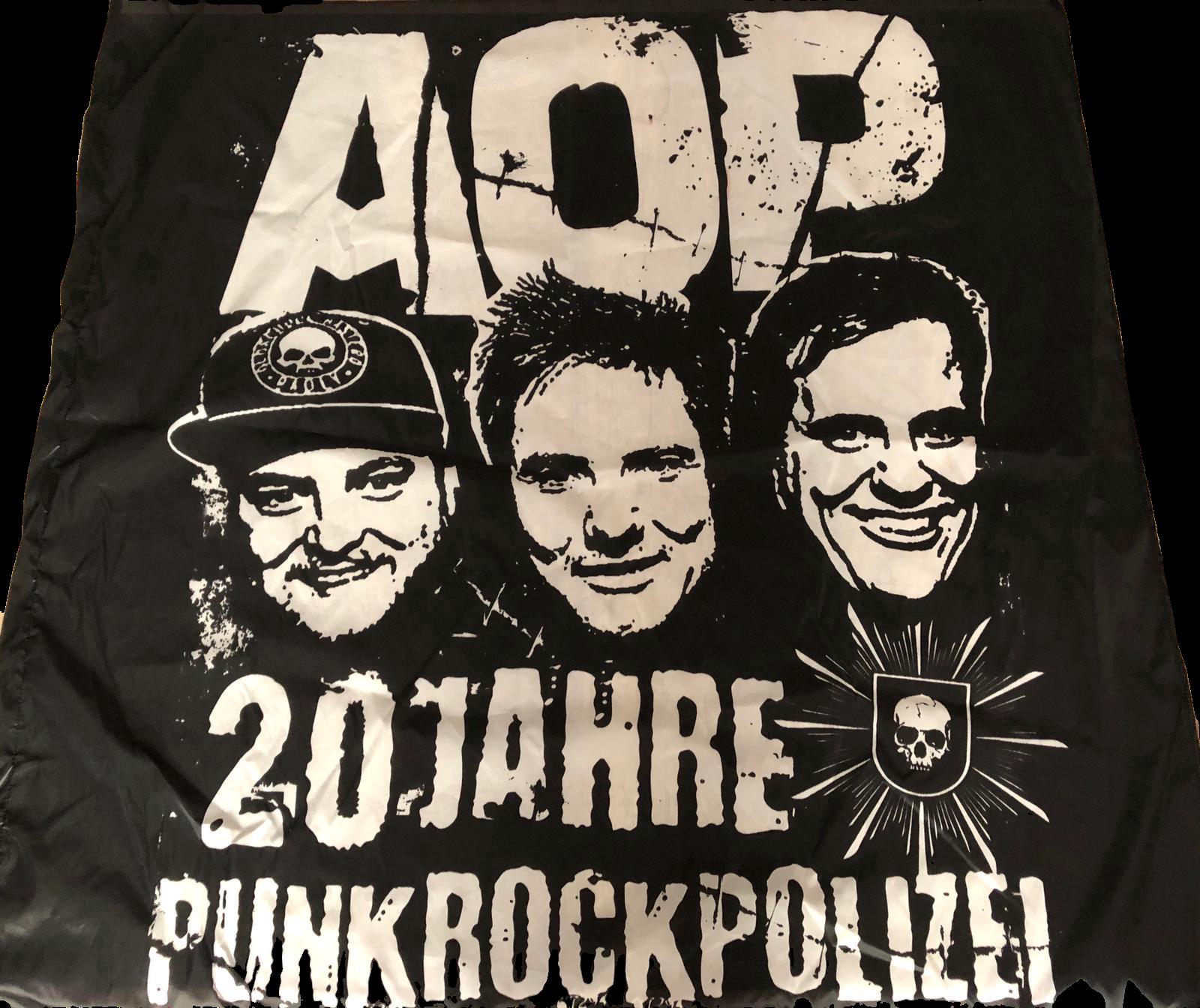 AOP – 20 Jahre Punkrockpolizei – Fahne