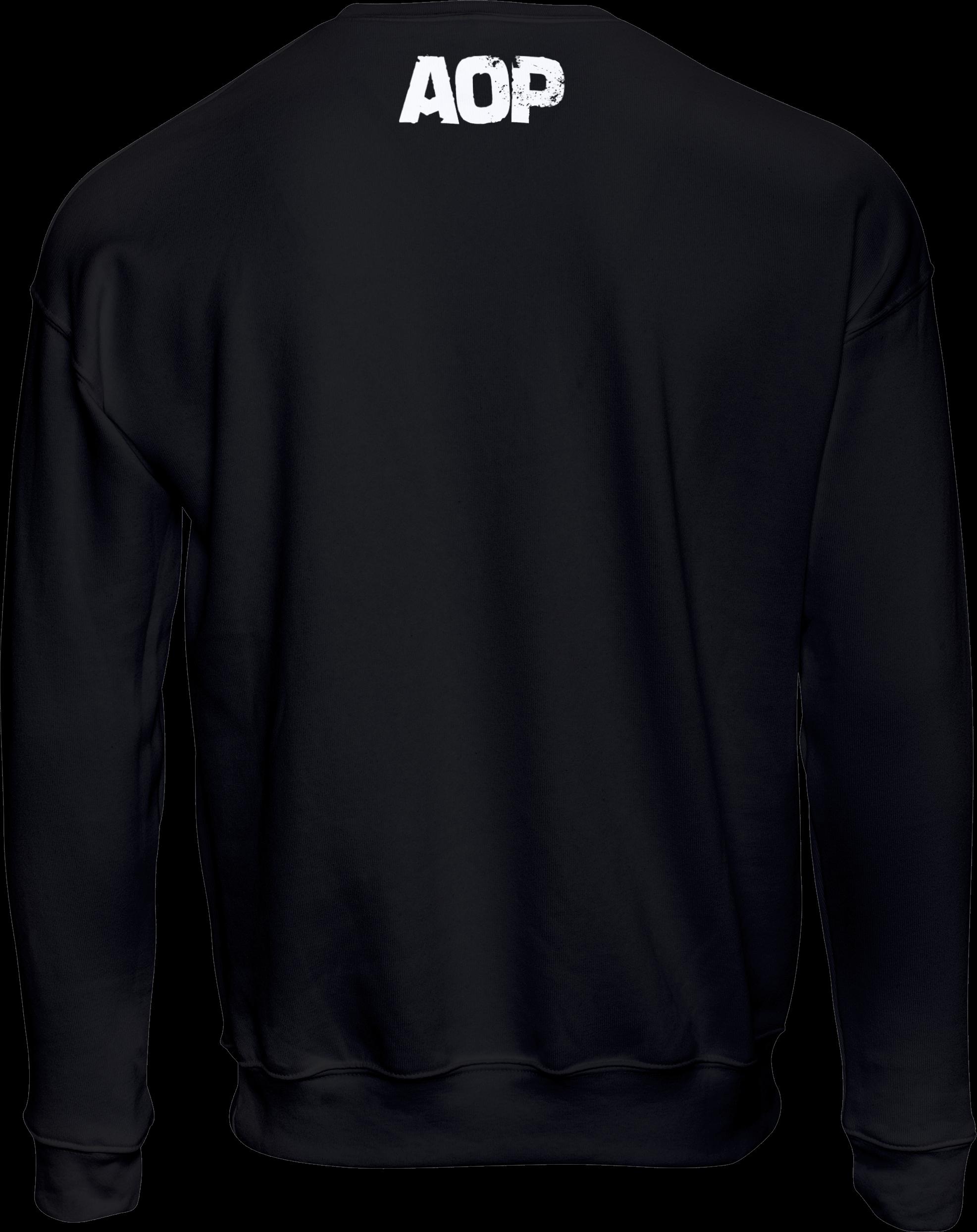 AOP – Unsere Lieder – Sweatshirt (schwarz)