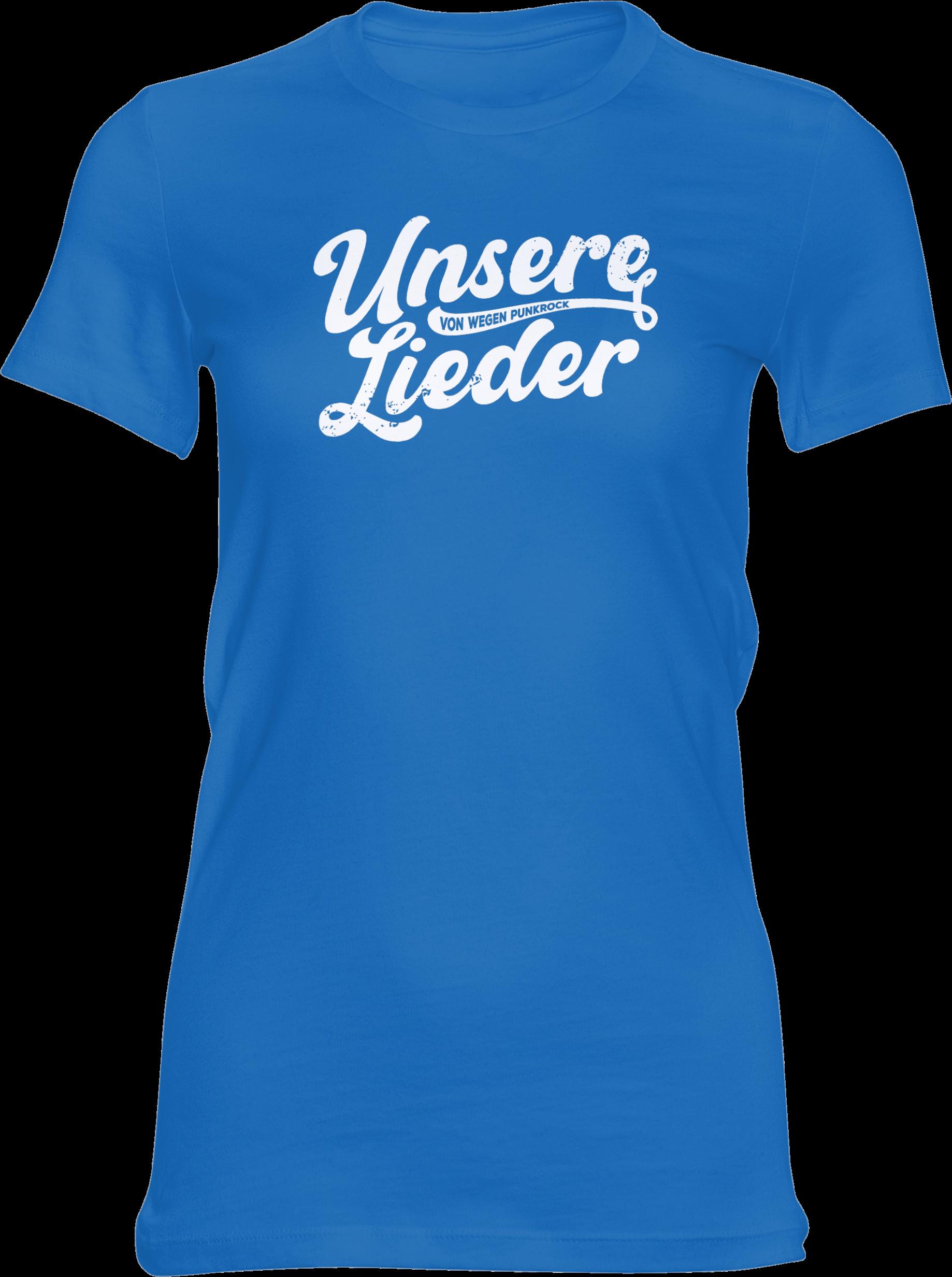 AOP – Unsere Lieder – Girlie-Shirt (blau)