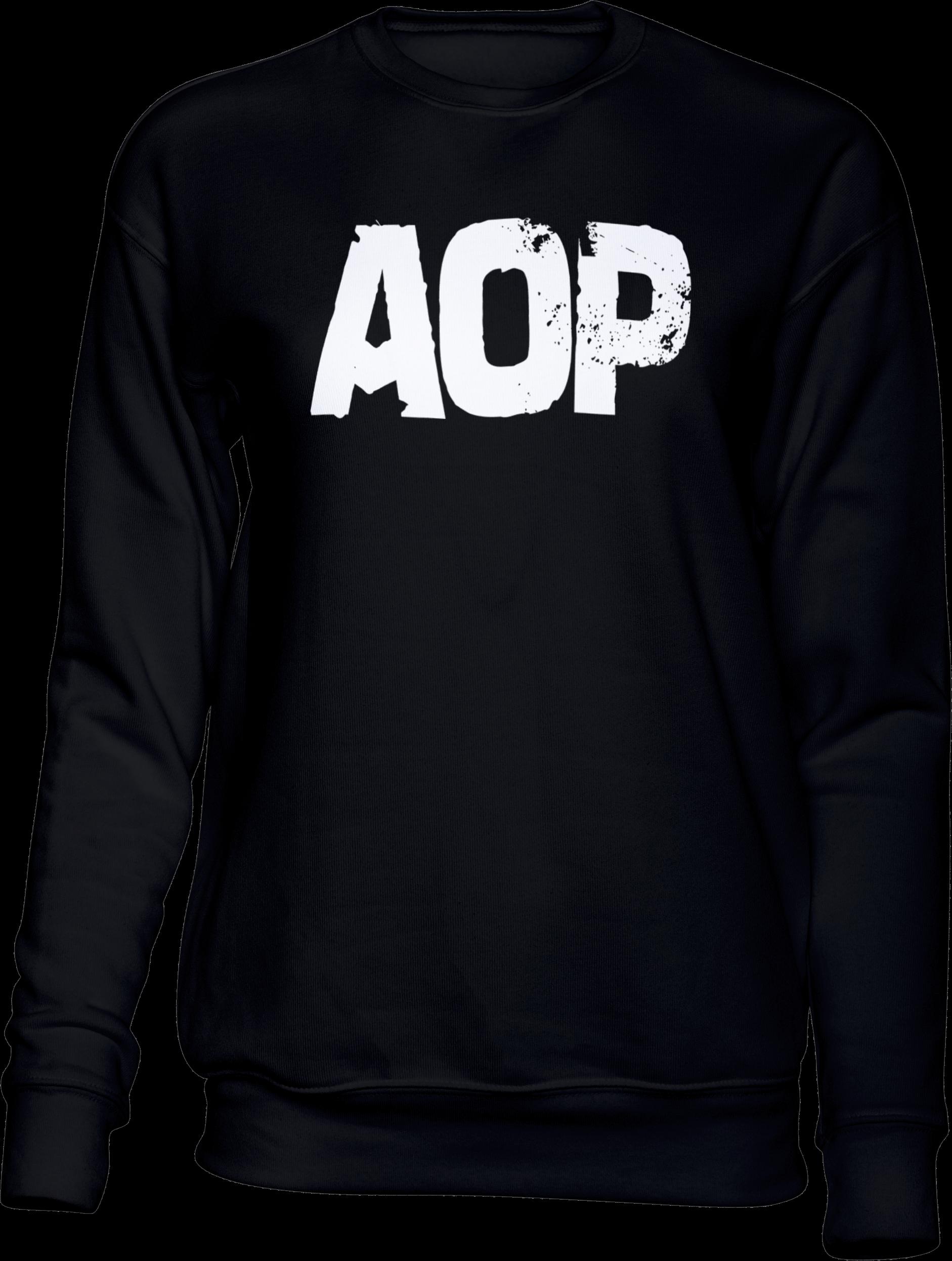 AOP – AOP Logo – Sweatshirt (schwarz)