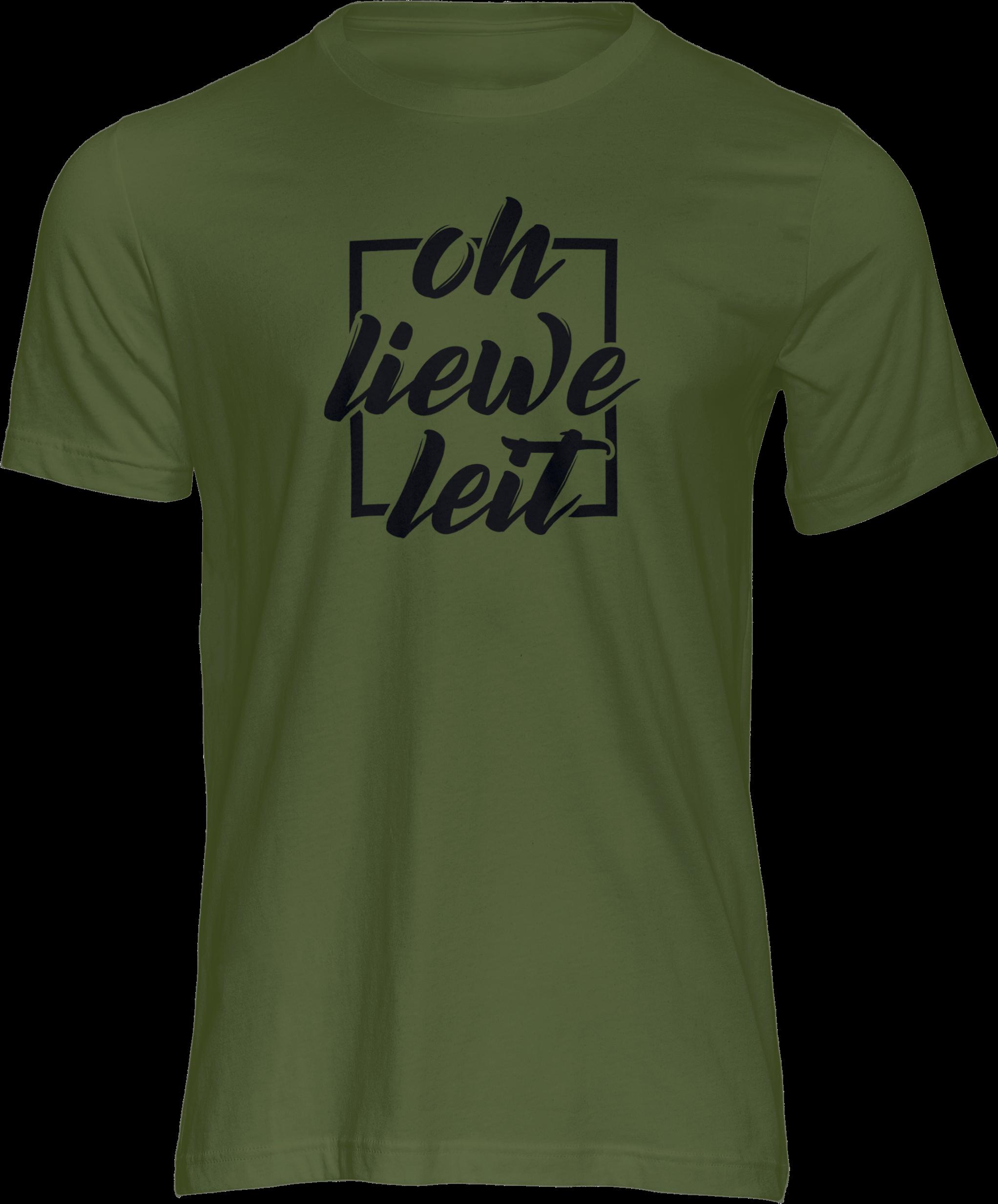 Motiv-Shirt – Oh liewe Leit – T-Shirt (grün)