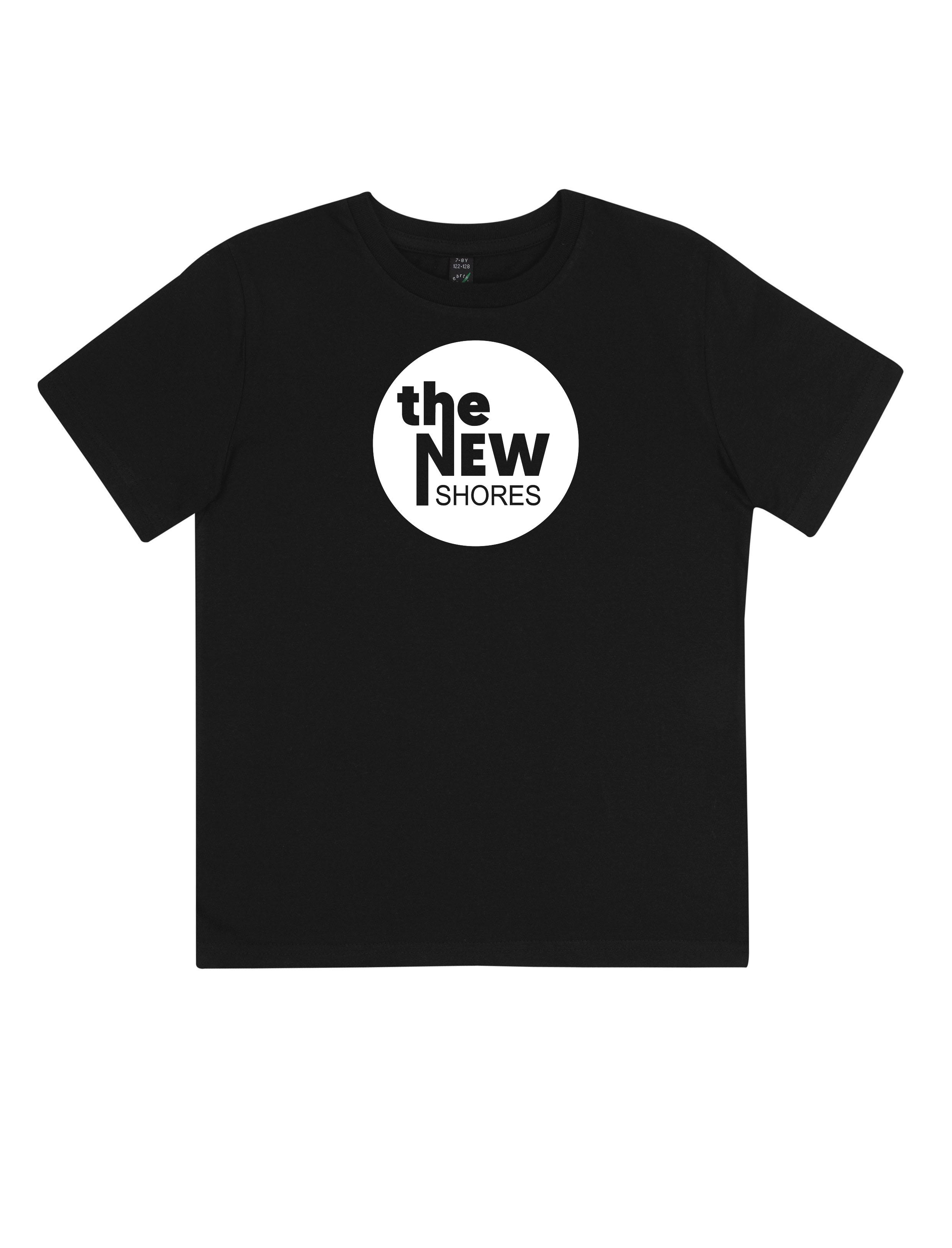 The New Shores – TNS Logo – Kids-Shirt (schwarz)