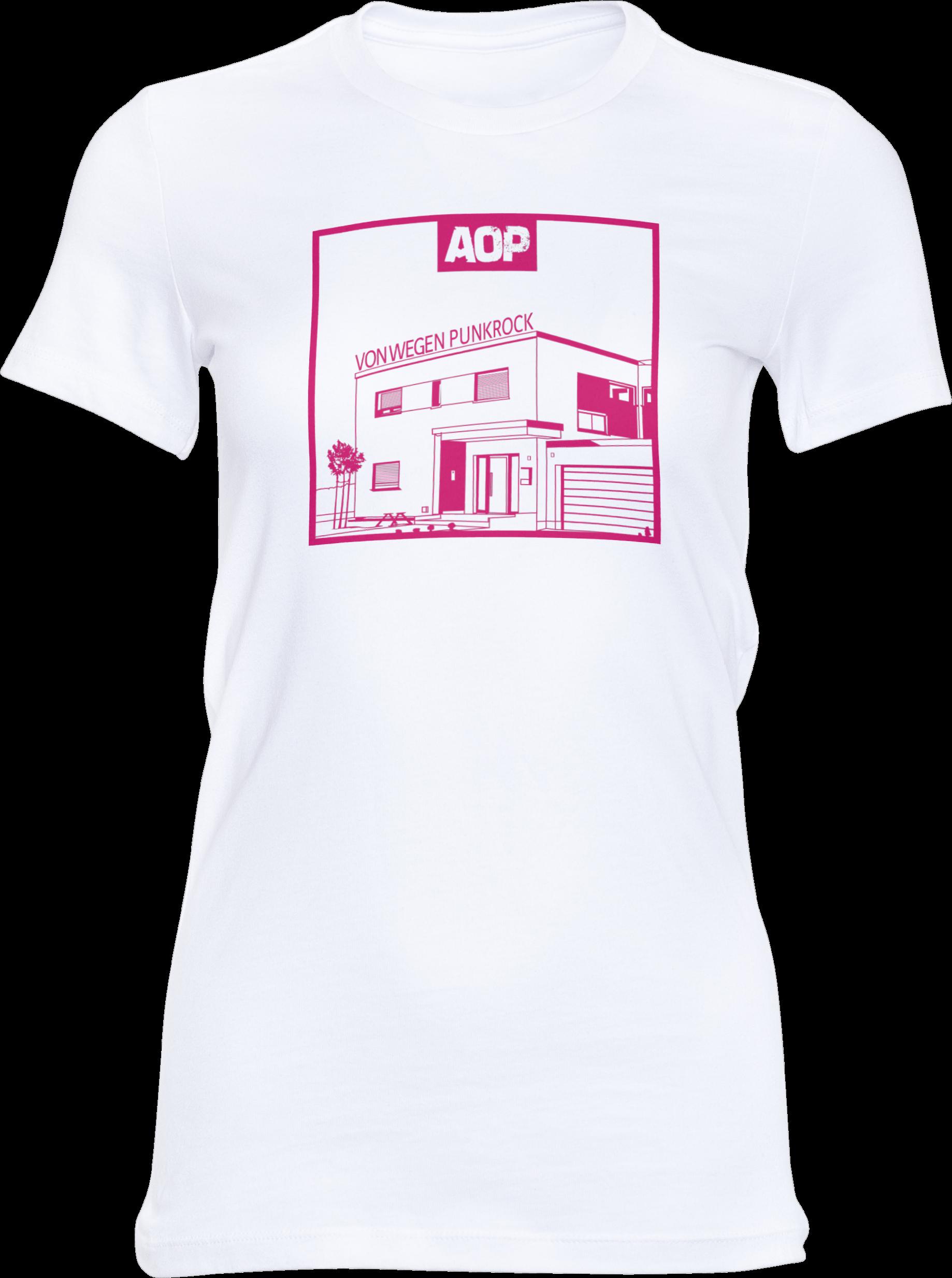 AOP – Von wegen Punkrock – Girlie-Shirt (weiß)