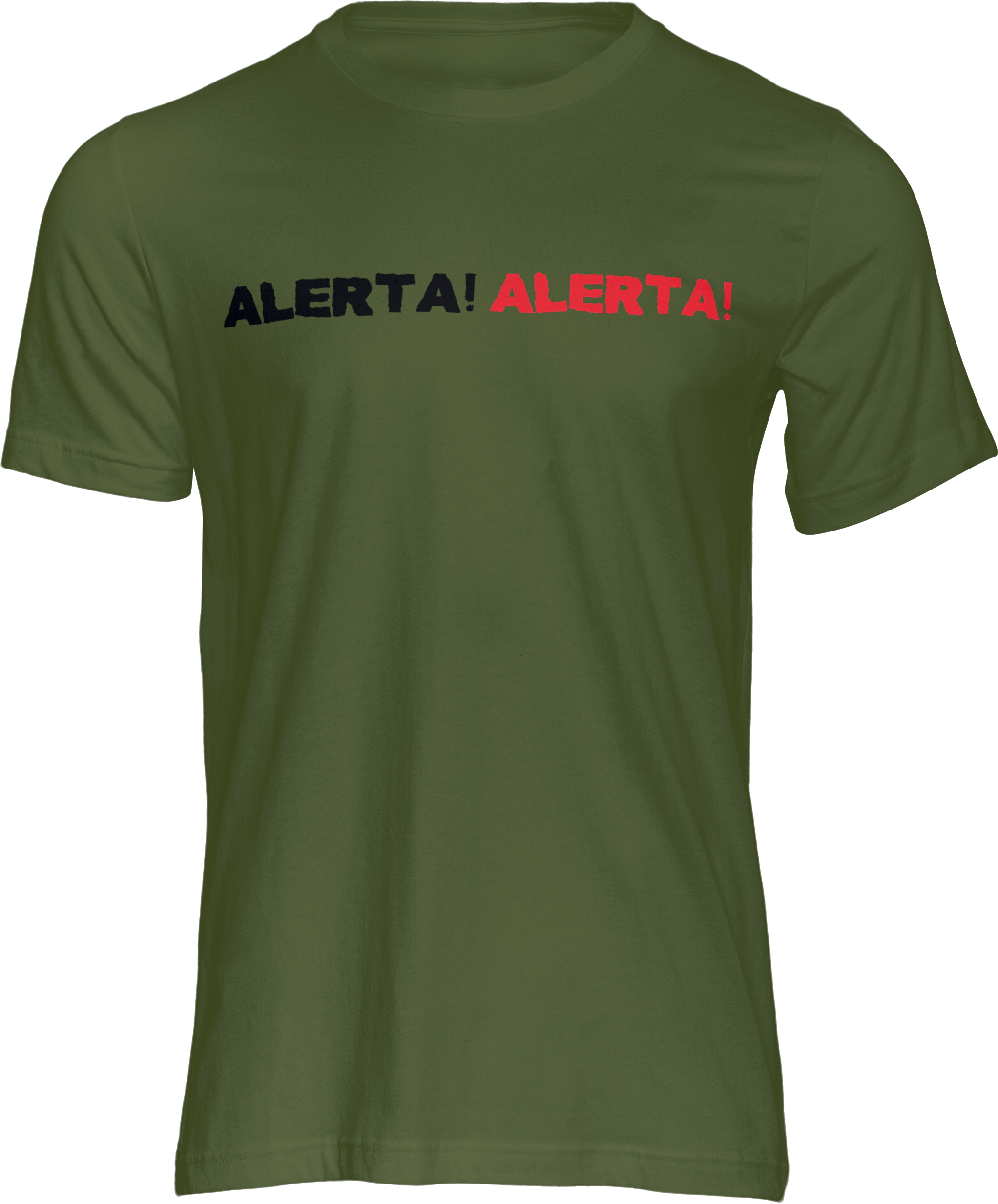 Motiv-Shirt – Alerta Alerta – T-Shirt (grün)