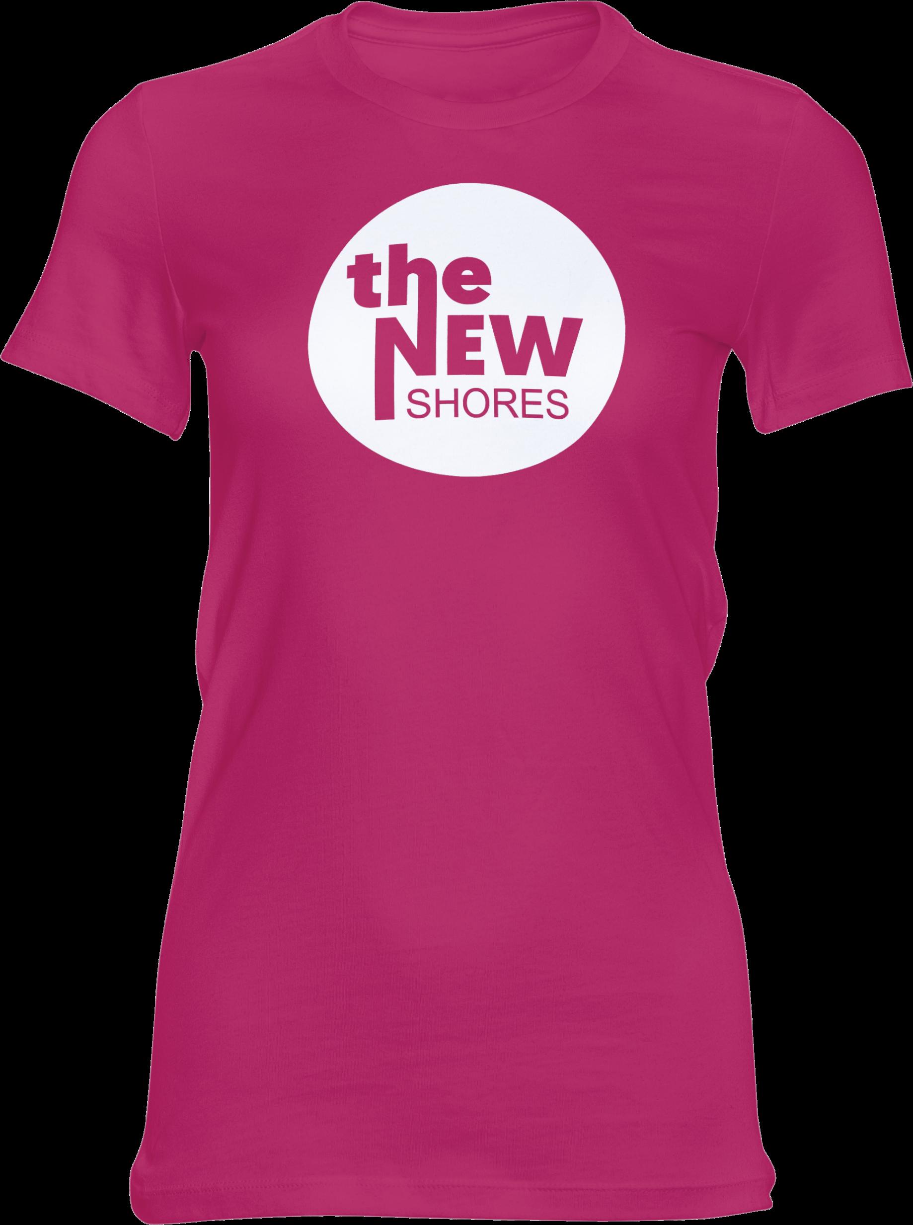 THE NEW SHORES – TNS Logo – Girlie-Shirt (pink)