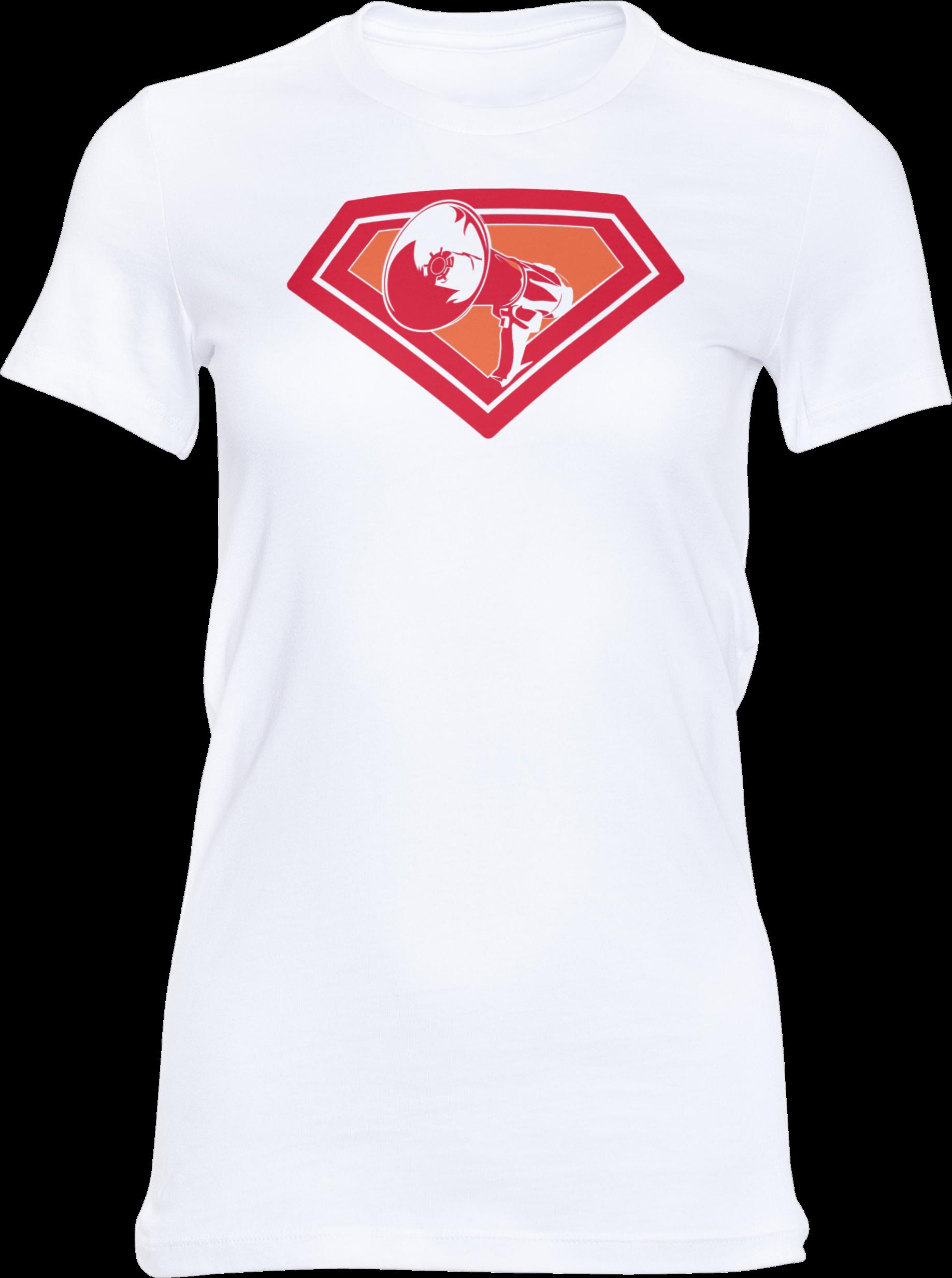 AOP – Mutter Theresa Logo – Girlie-Shirt (weiß)