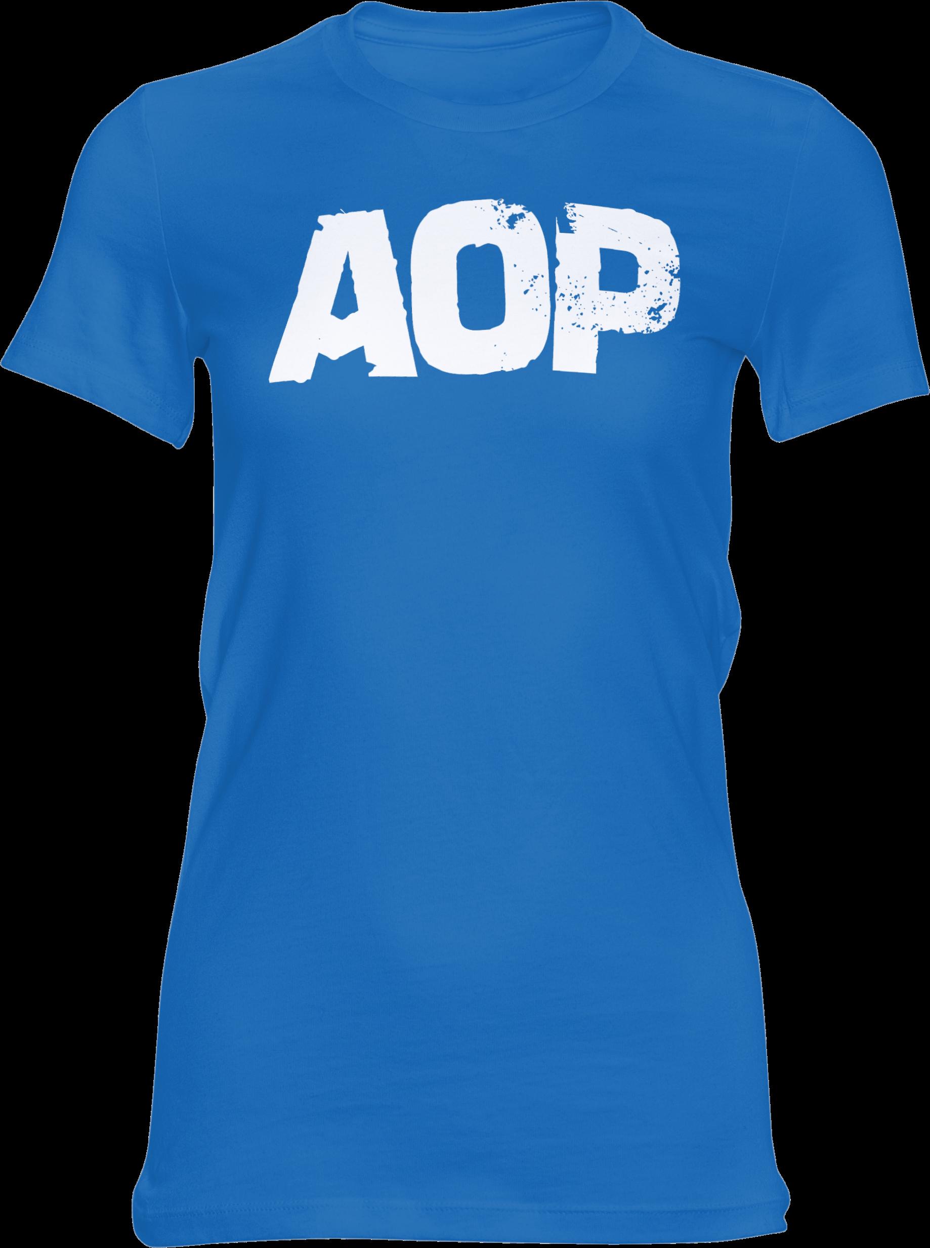 AOP – AOP Logo – Girlie-Shirt (blau)