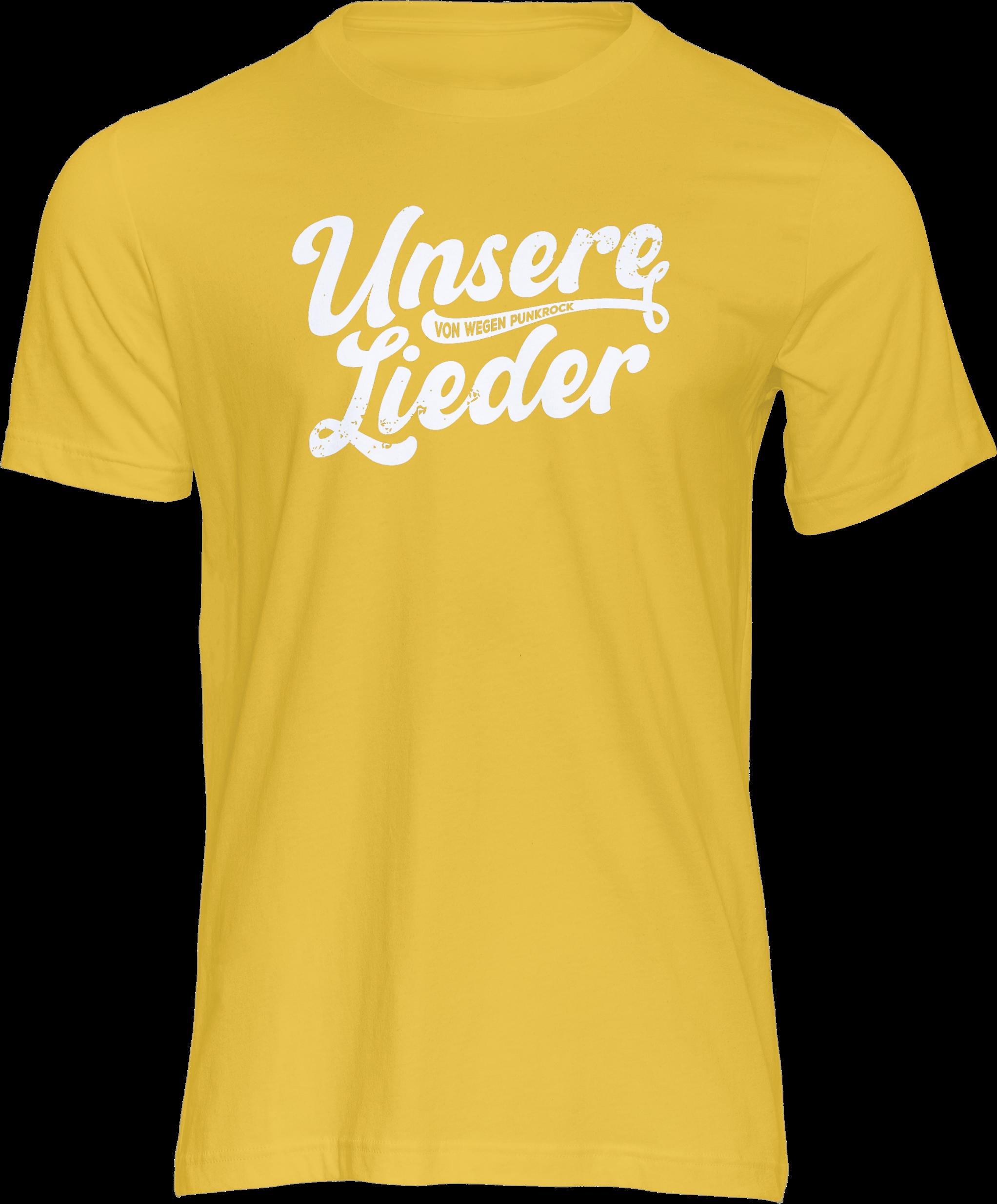 AOP – Unsere Lieder – T-Shirt (gelb)