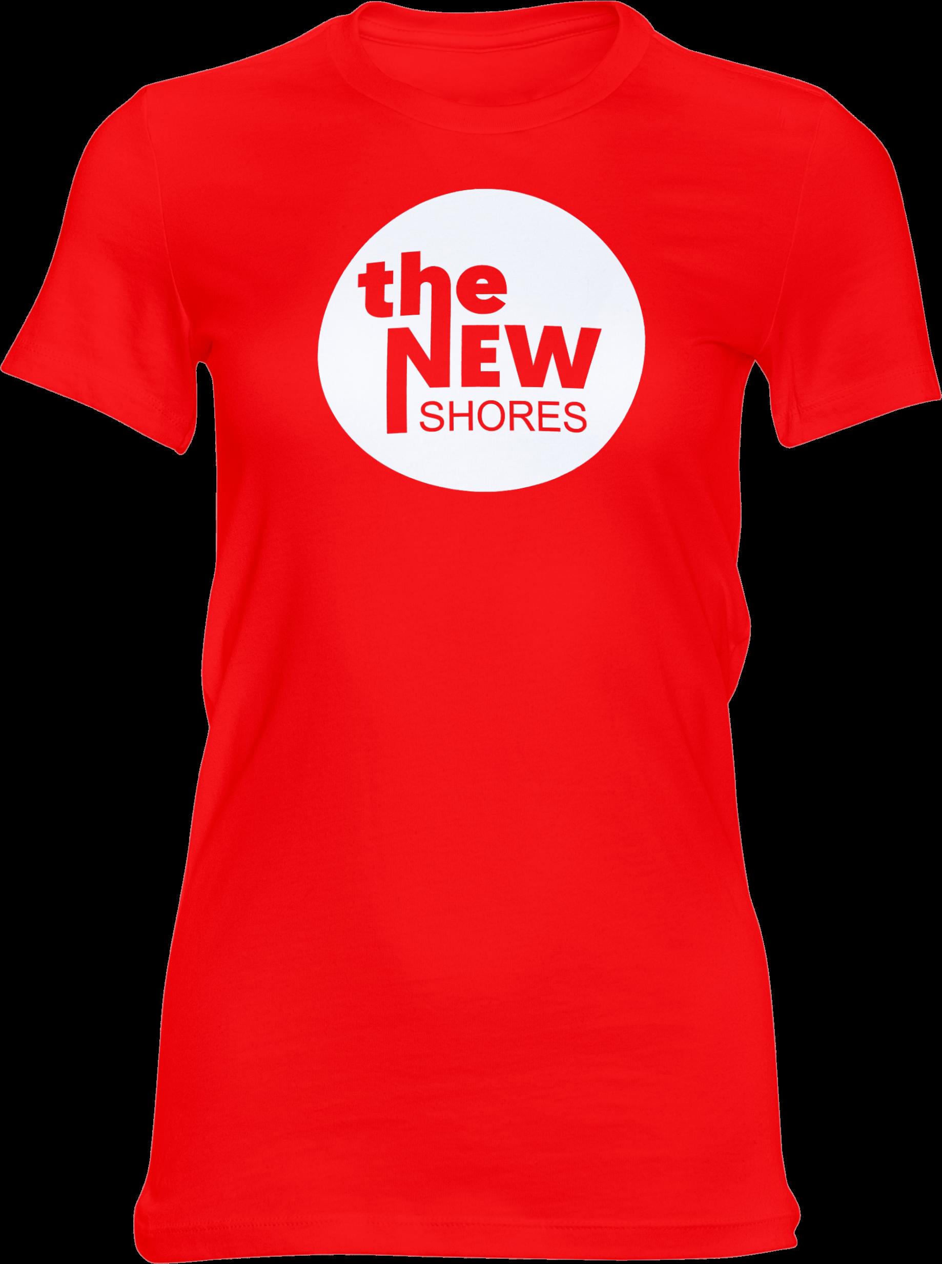 The New Shores – TNS Logo – Girlie-Shirt (rot)