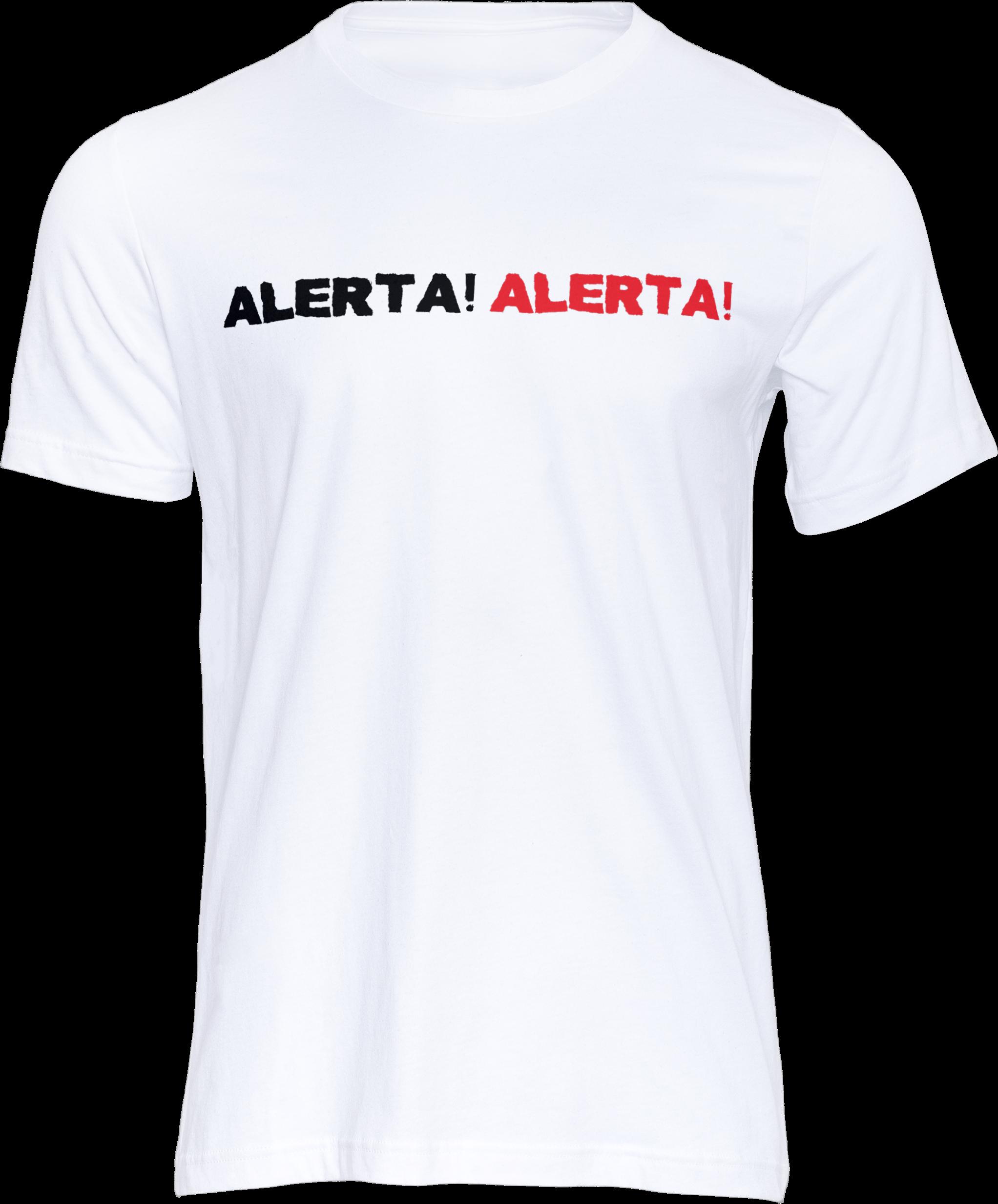Motiv-Shirt – Alerta Alerta – T-Shirt (weiß)