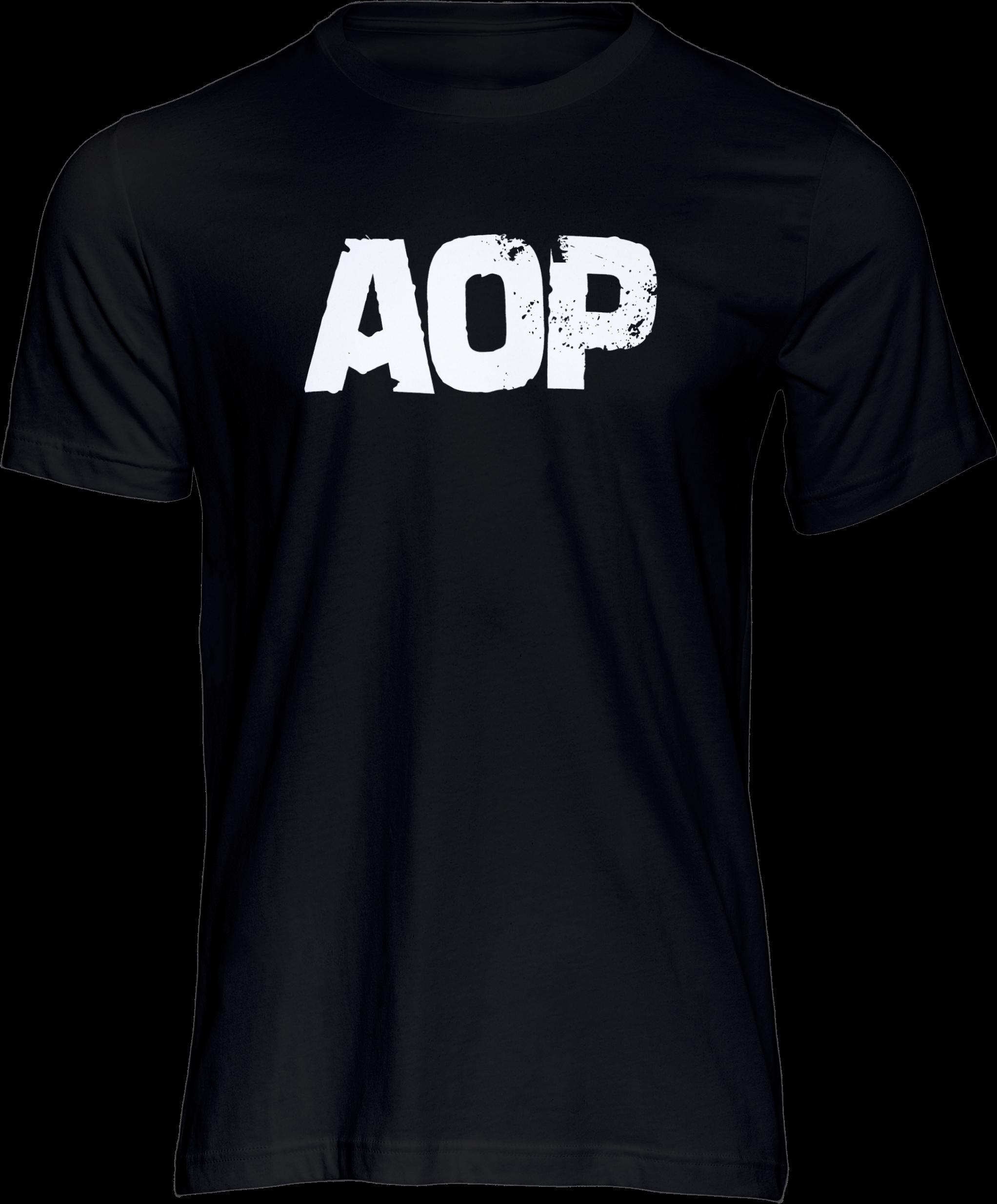 AOP – AOP Logo – T-Shirt (schwarz)