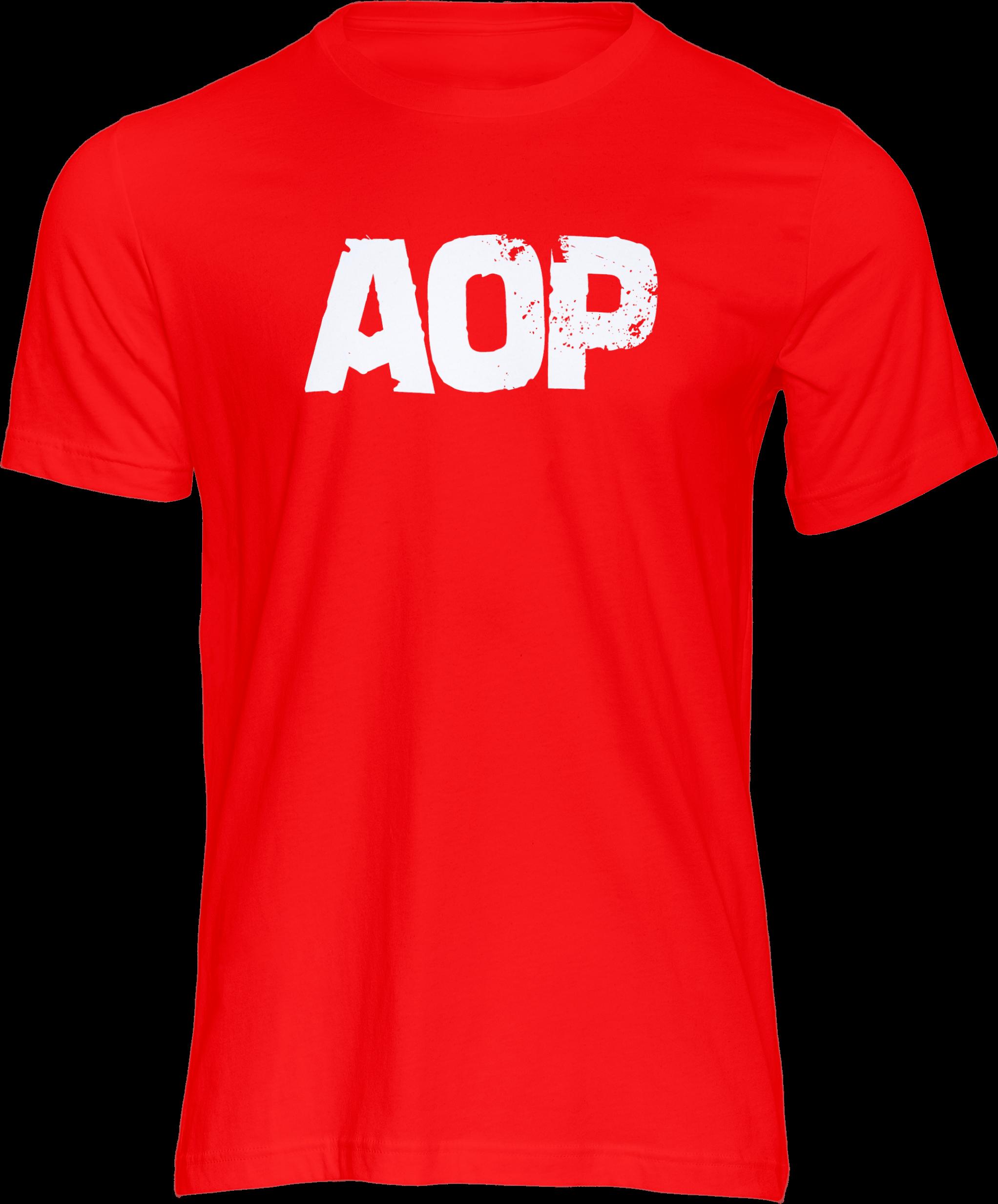AOP – AOP Logo – T-Shirt (rot)