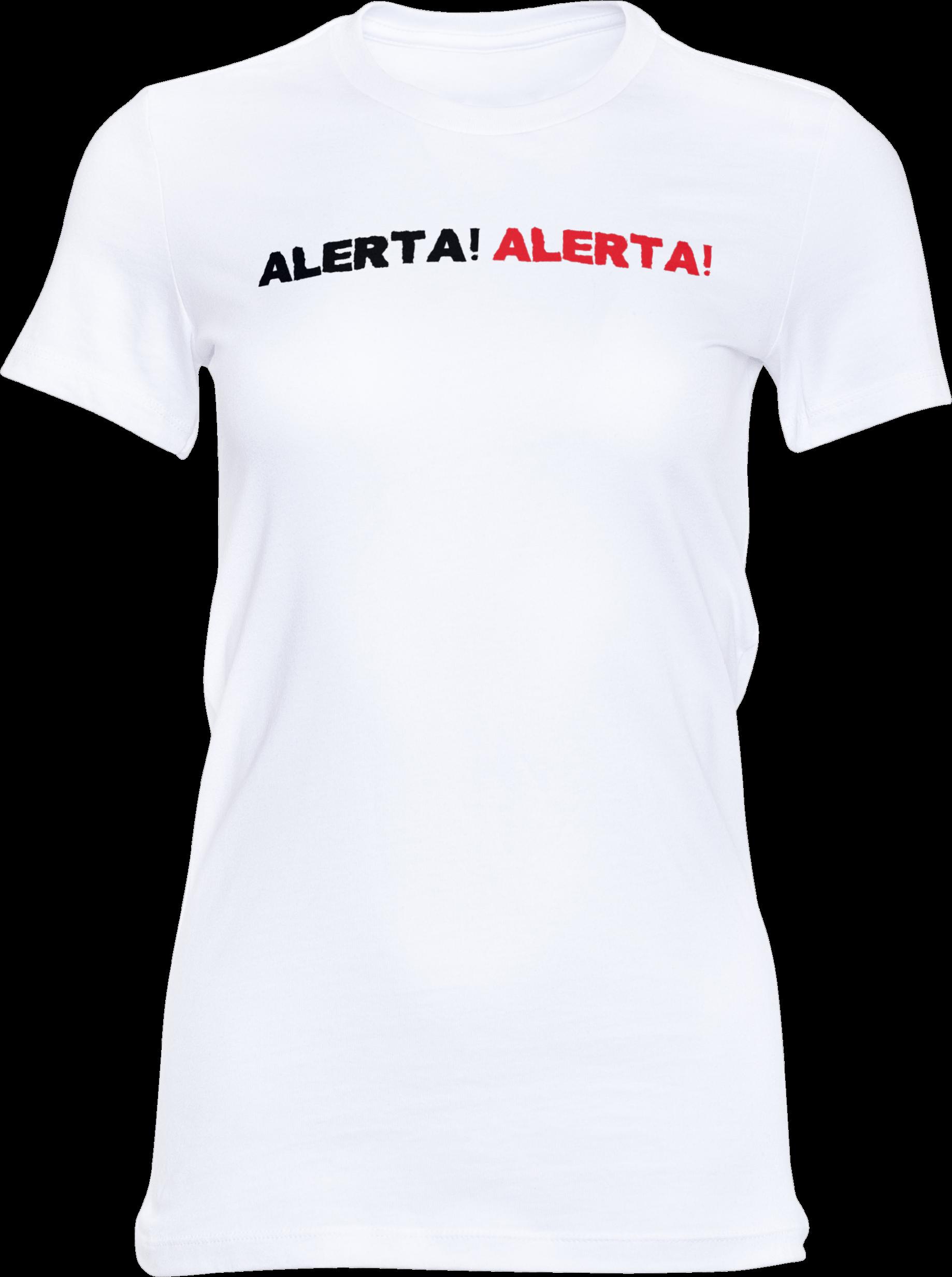 Motiv-Shirt – Alerta Alerta – Girlie-Shirt (weiß)