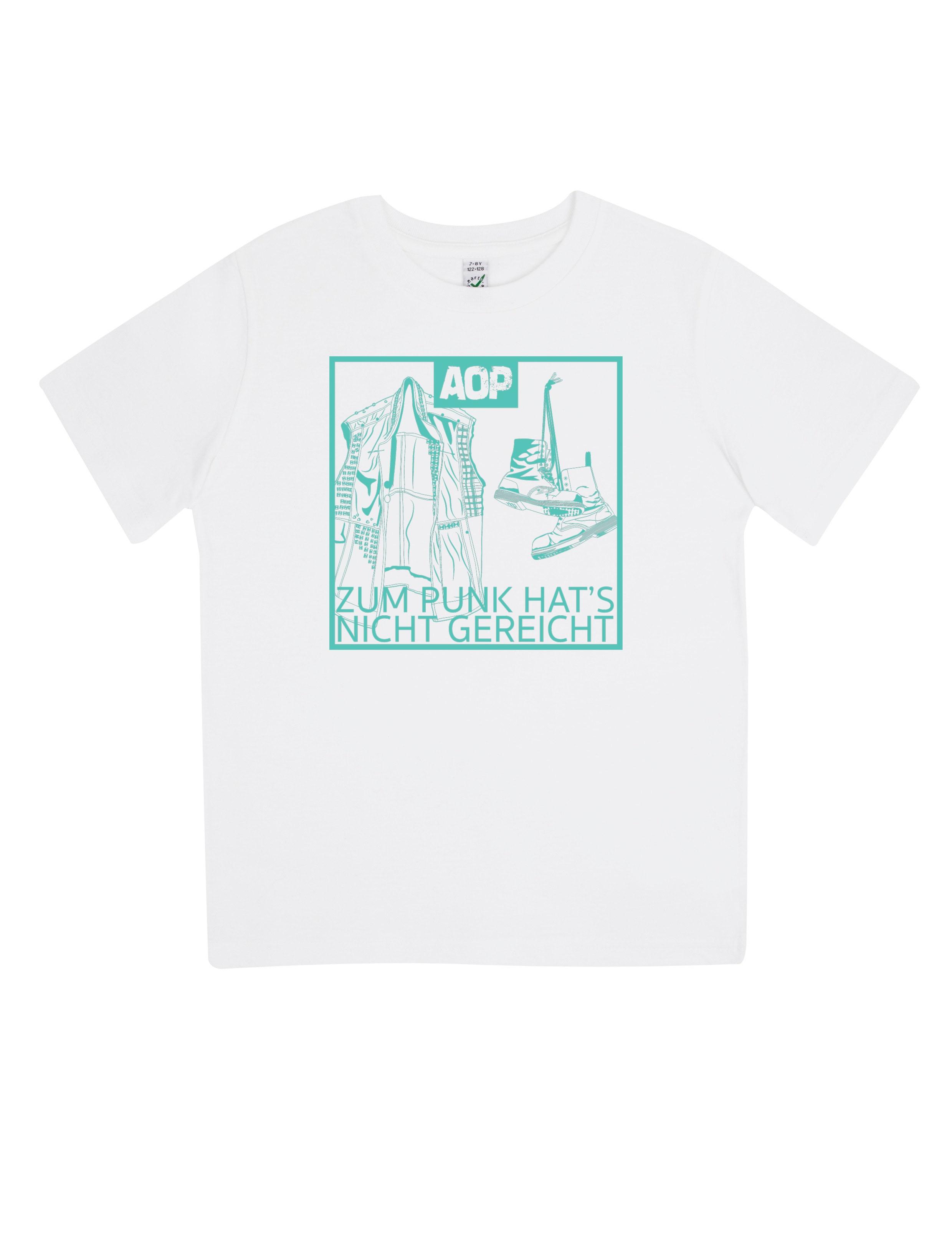 AOP – Zum Punk hat's nicht gereicht – Kids-Shirt (weiß)