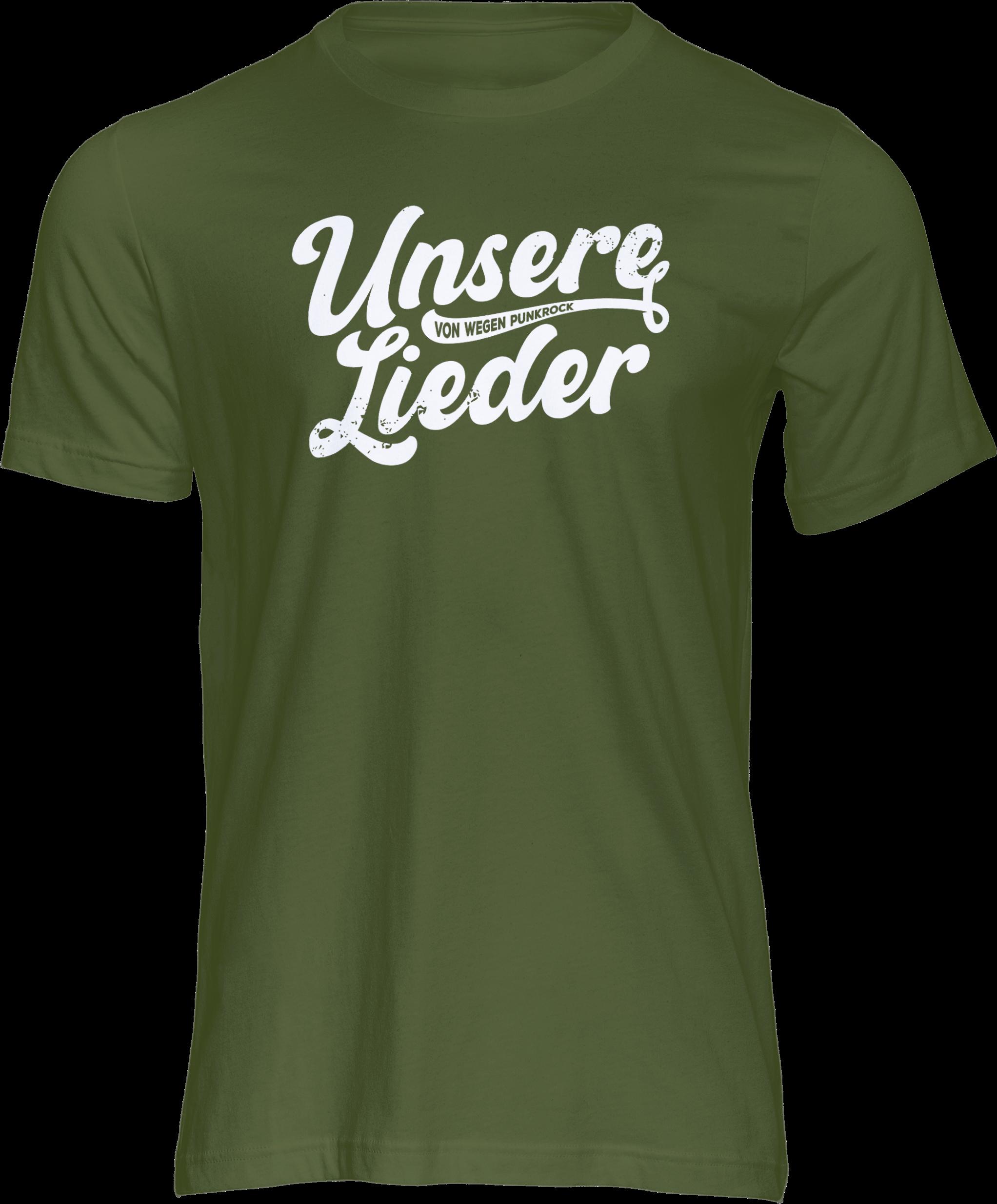 AOP – Unsere Lieder – T-Shirt (grün)