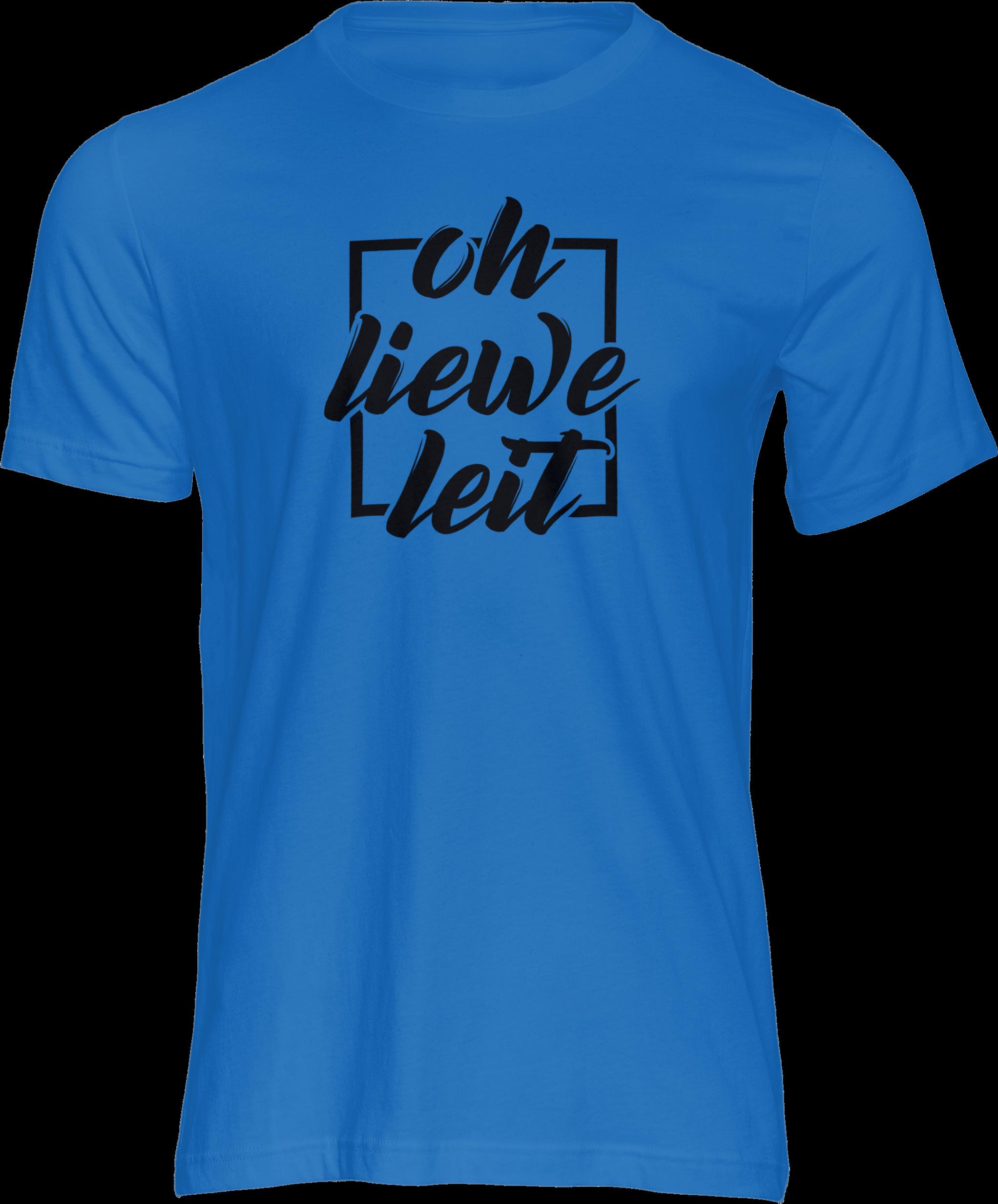 Motiv-Shirt – Oh liewe Leit – T-Shirt (blau)