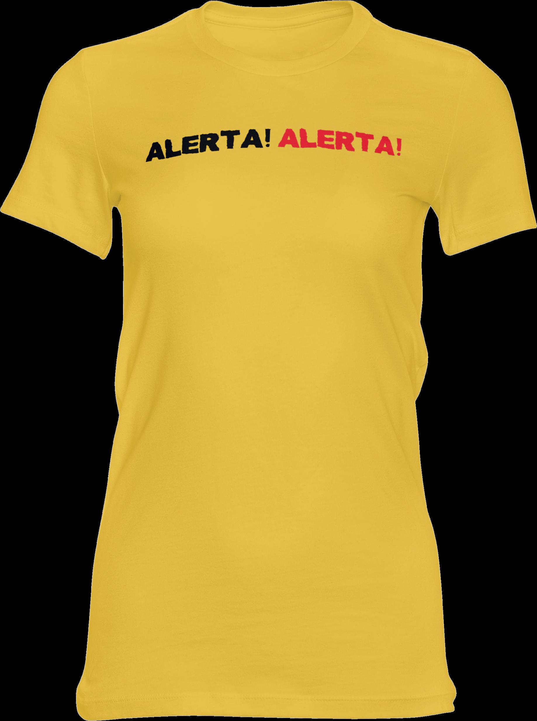Motiv-Shirt – Alerta Alerta – Girlie-Shirt (gelb)