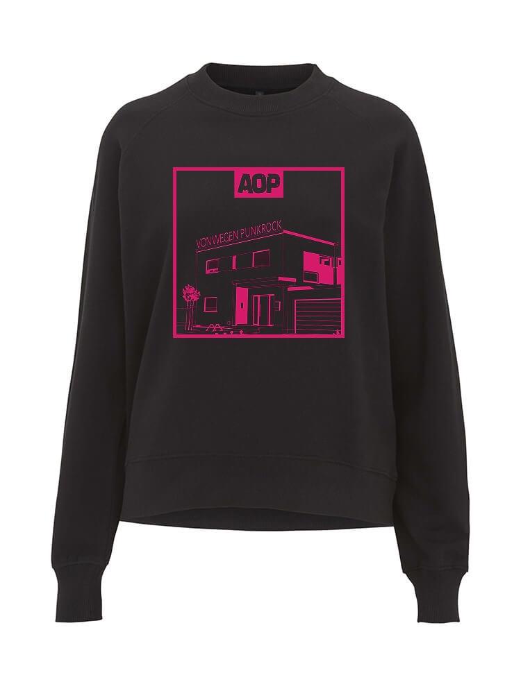 AOP – Von wegen Punkrock – Sweatshirt-Girlie (schwarz)
